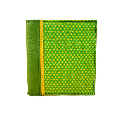 Cartera Billetera Vertical Perno Verde