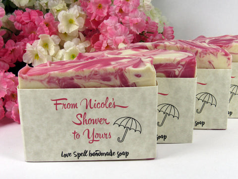 Soap Shower Favors for Baby Shower or Bridal Shower - From My Shower to Yours!
