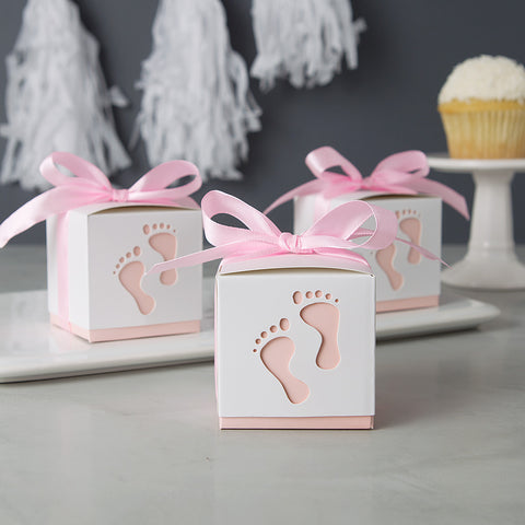 Girl Baby Shower Favors Baby Footprint with Bath Products