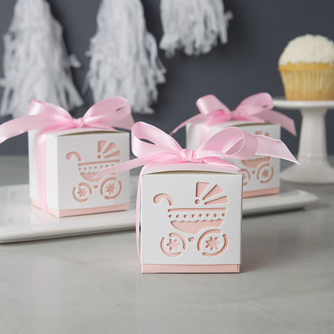 Girl Baby Shower Favors - Cute Pink Baby Carriage