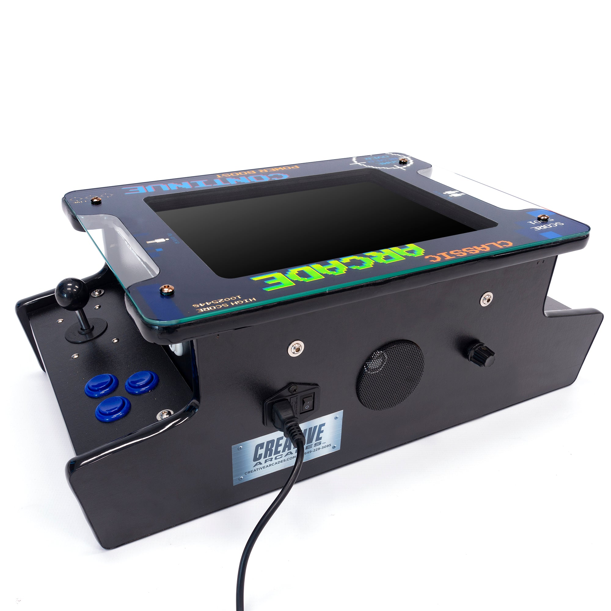 2P 412 Games Mini Tabletop Arcade Speaker and Volume Control