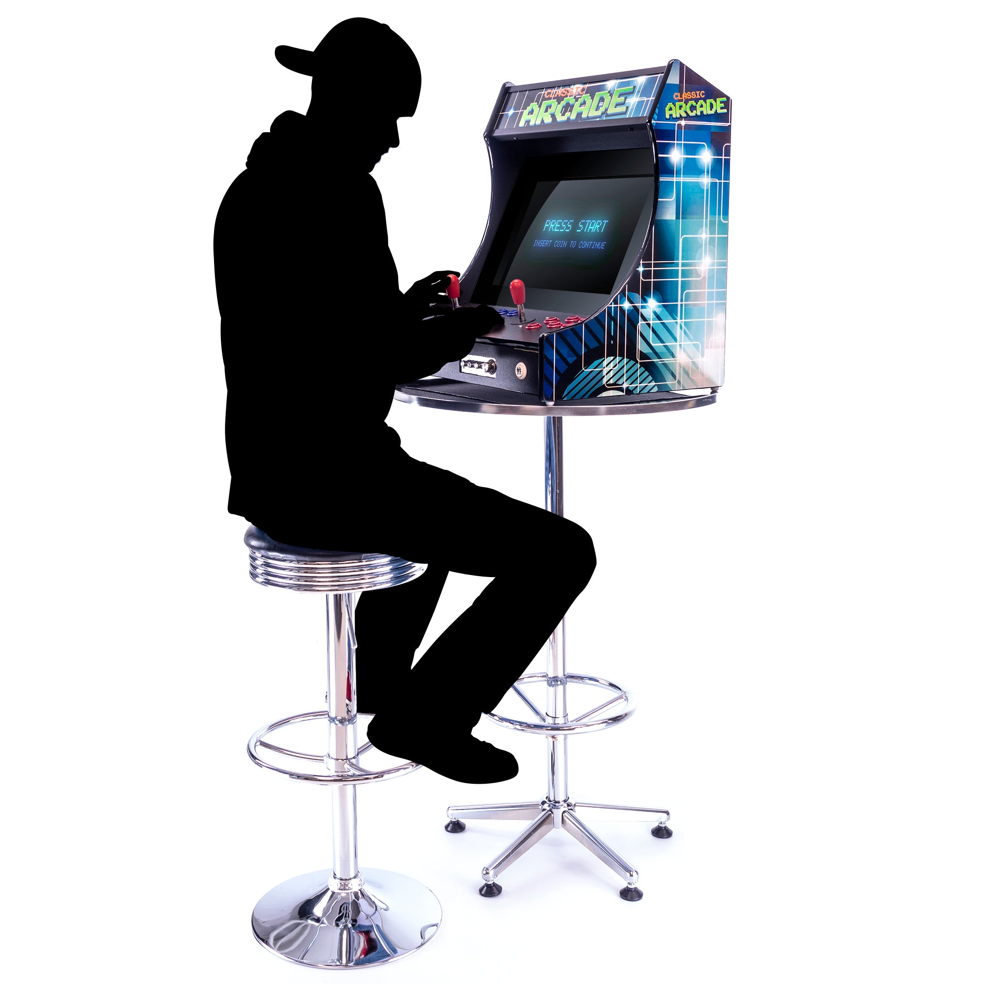 2P 3000 Games Mini Upright Arcade