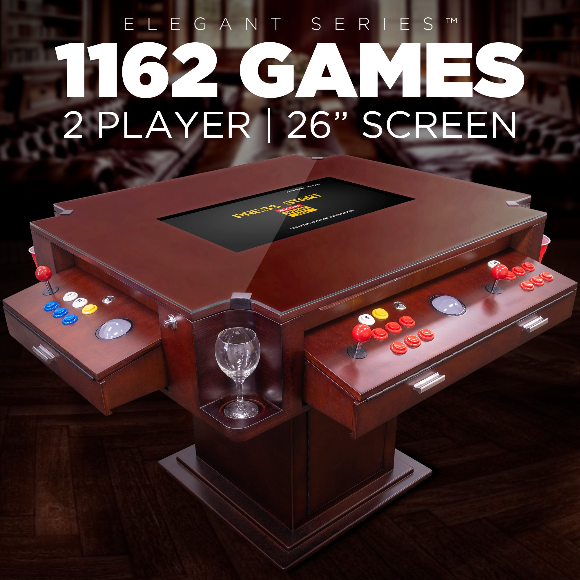 "Creative Arcades Elegant Series 2 Player 26"" Screen 1162 Games"