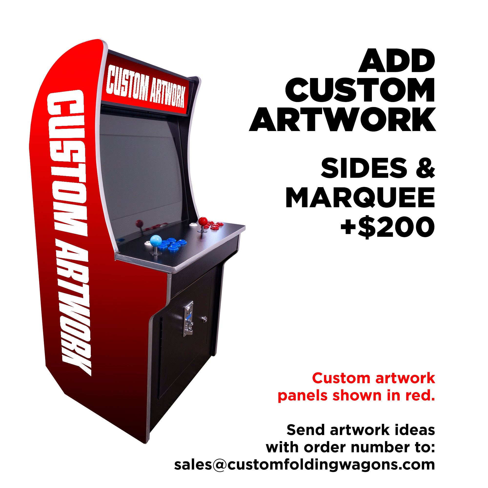 151023 Mini Kids Arcade 2323 Games Custom Artwork Sides Marquee