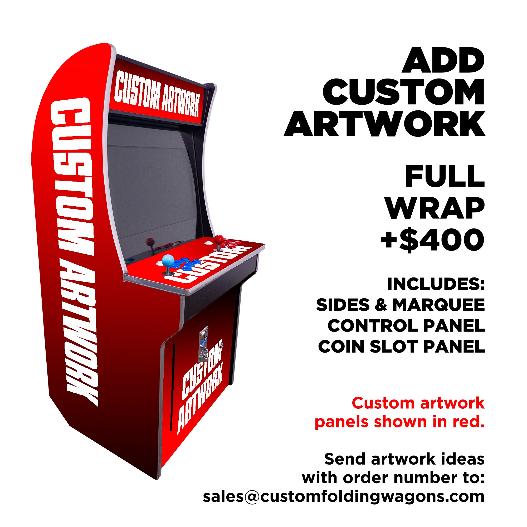 151023 Mini Kids Arcade 2323 Games Custom Artwork Full Wrap