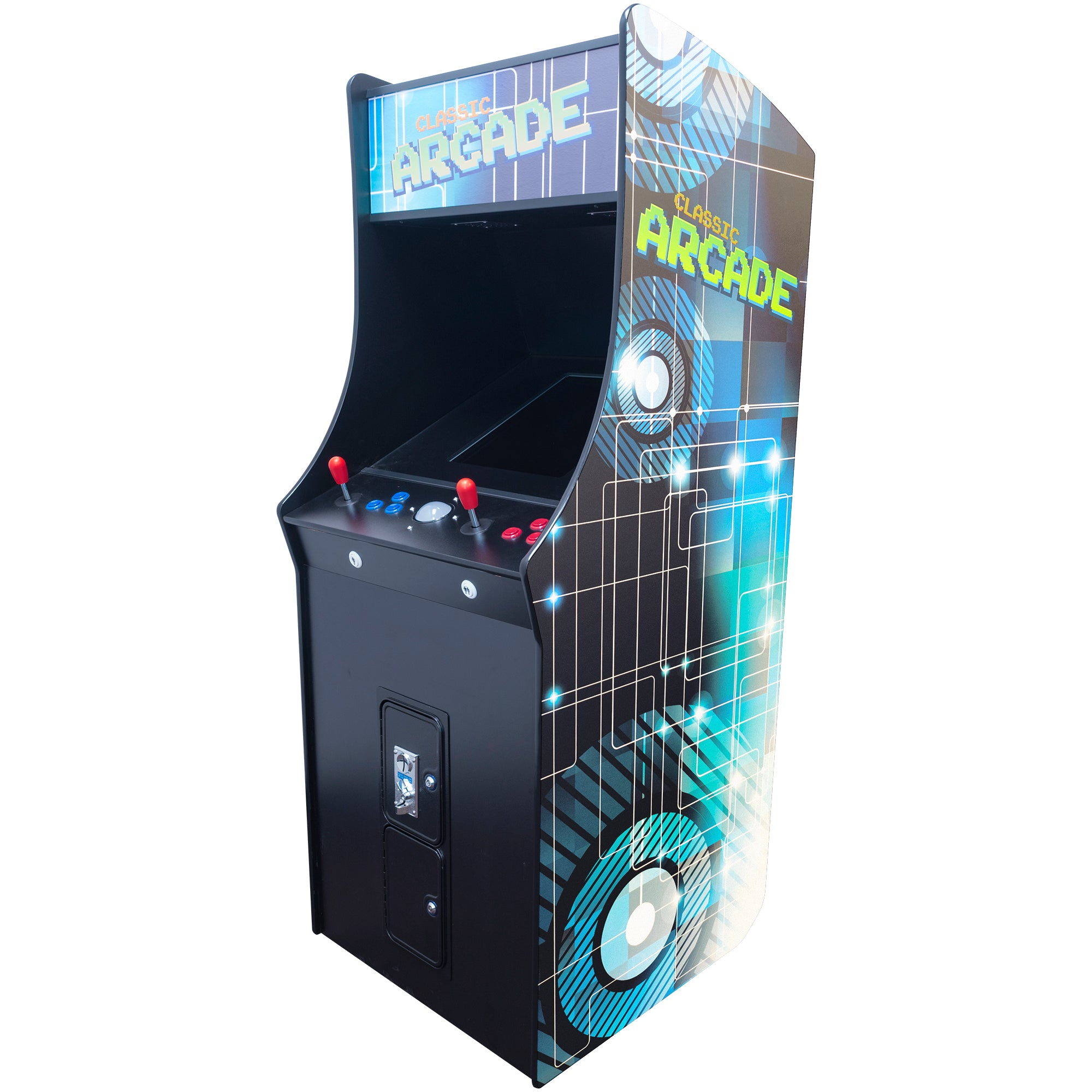 "2 Player Stand Up FULL SIZE | 412 Games | 19.5"" Classic Video Game Arcade 