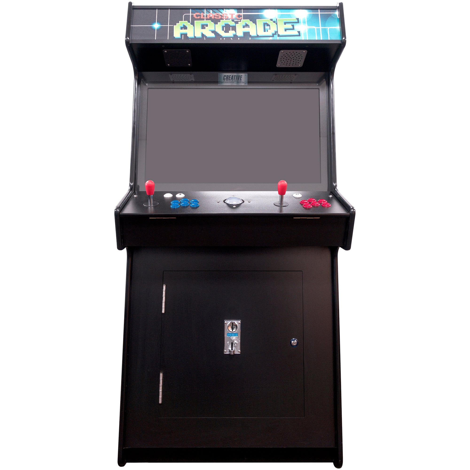 2 Player 3500 Games SLIM Stand Up Arcade Front View