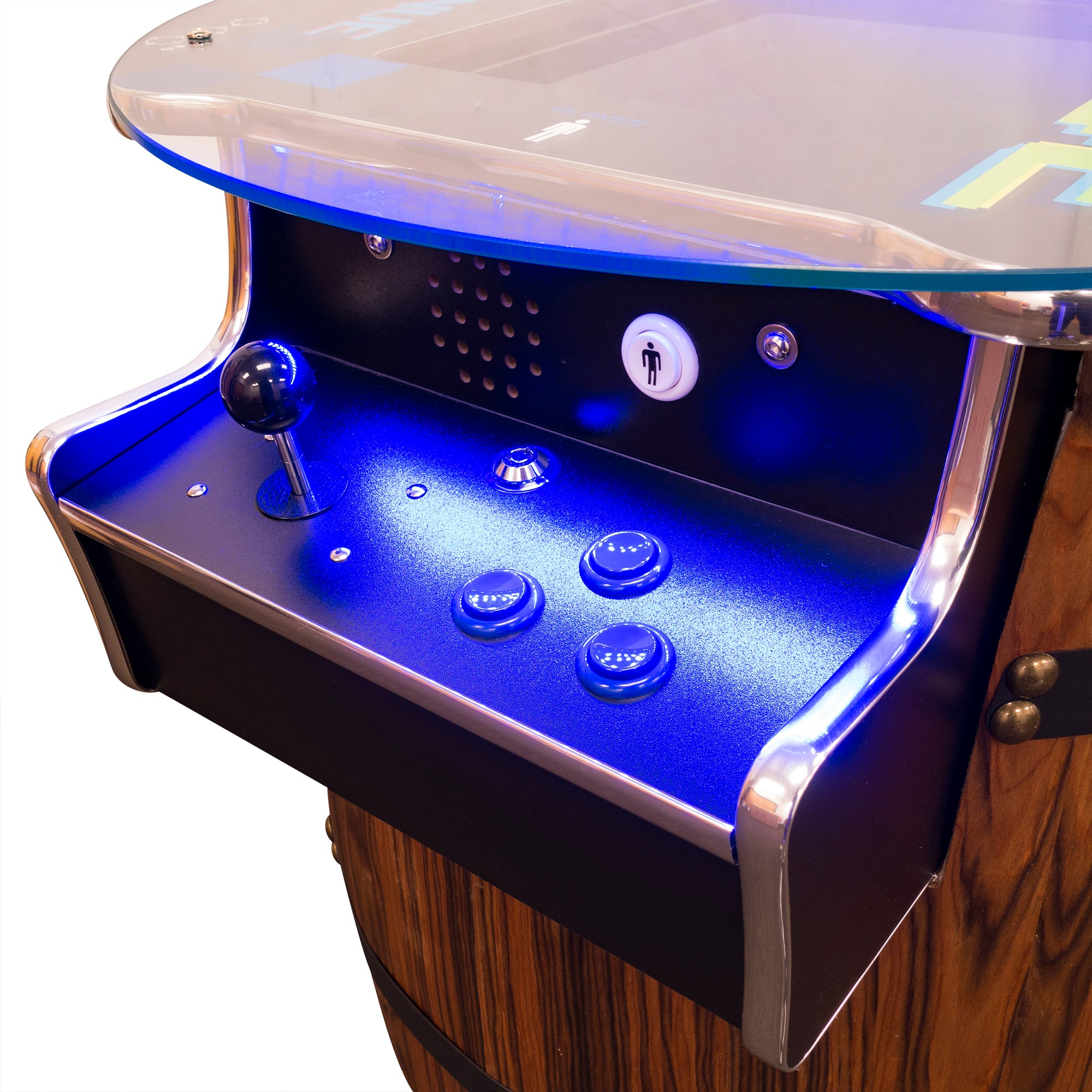 2 Player Mid-Size Wine Barrel Arcade LED Lights