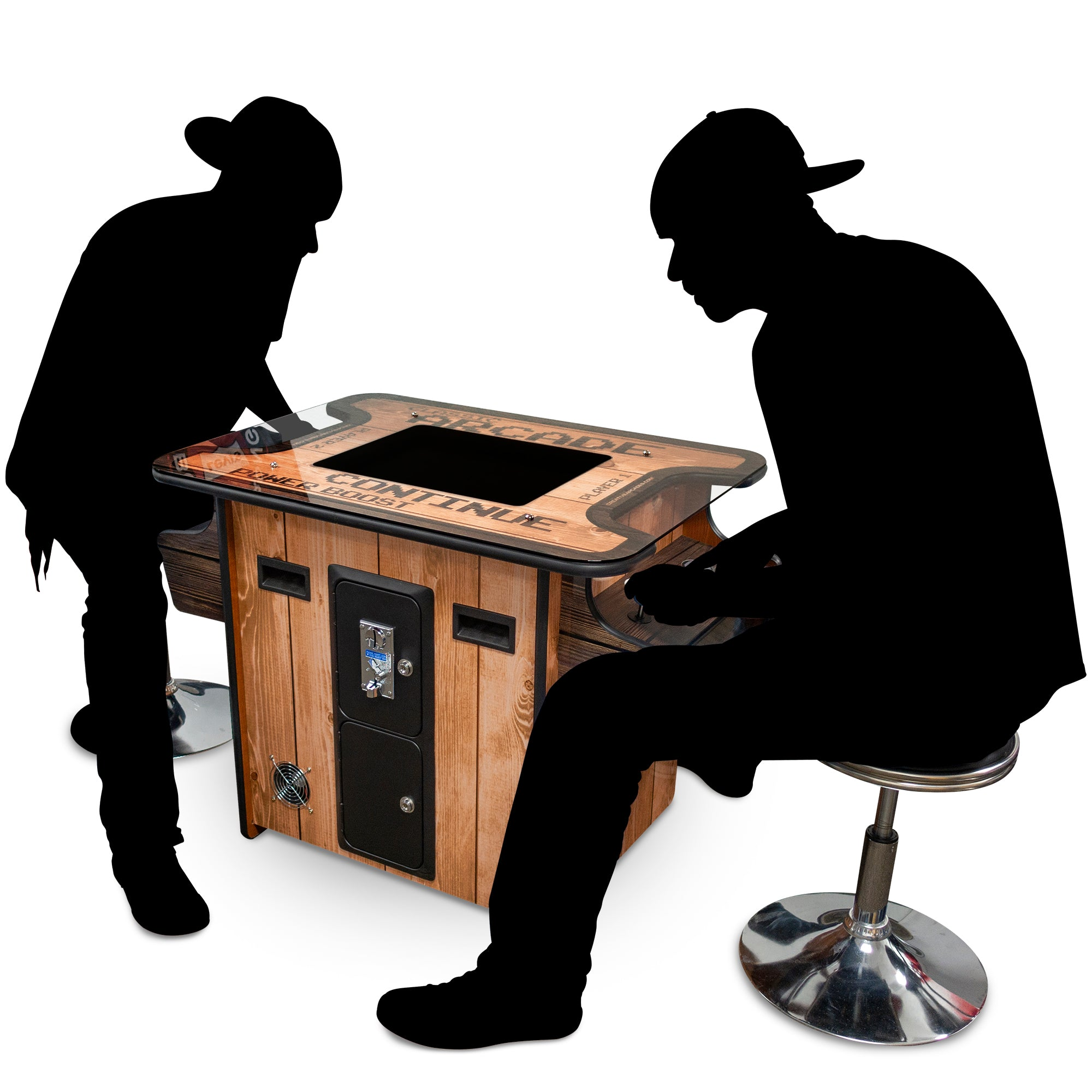 "2 Player 19"" Cocktail Arcade Wood Grain 332141WG"