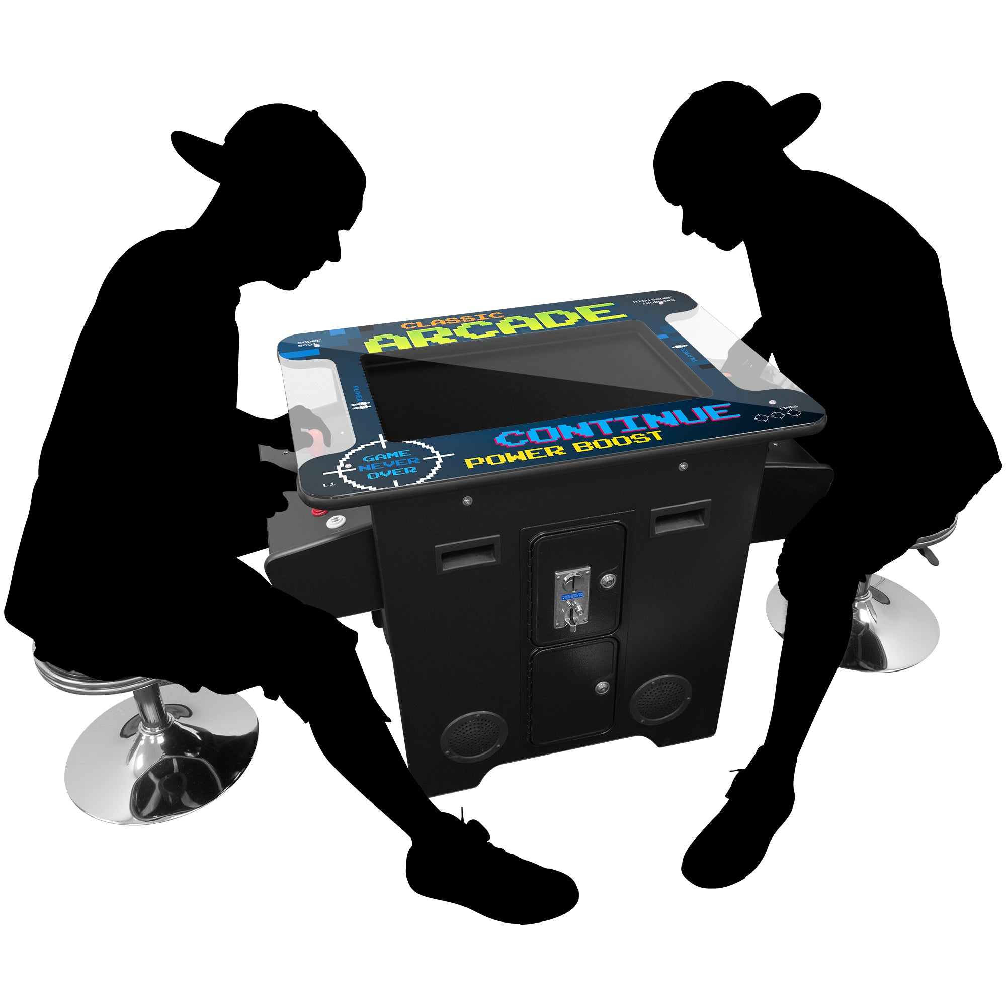 "2 Player Cocktail Arcade with Trackball | 60-412 Games | 26"" LCD Monitor 