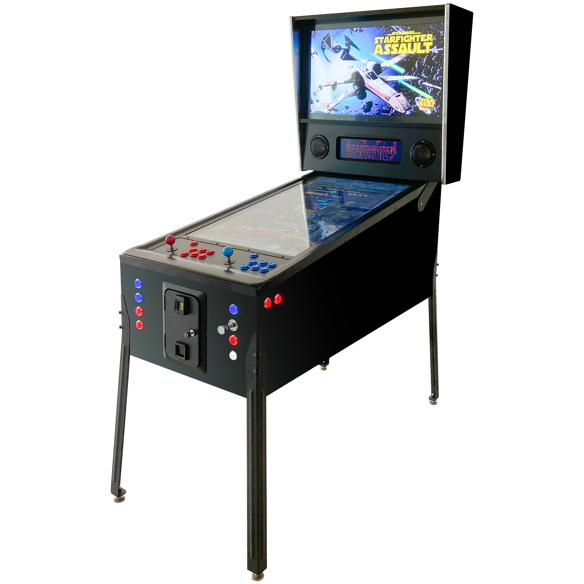 "Virtual Pinball Machine | (2 in 1) Combo 906 Pinball Games 400 Classic Arcade Games | 49"" and 32"" LCD Screens 
