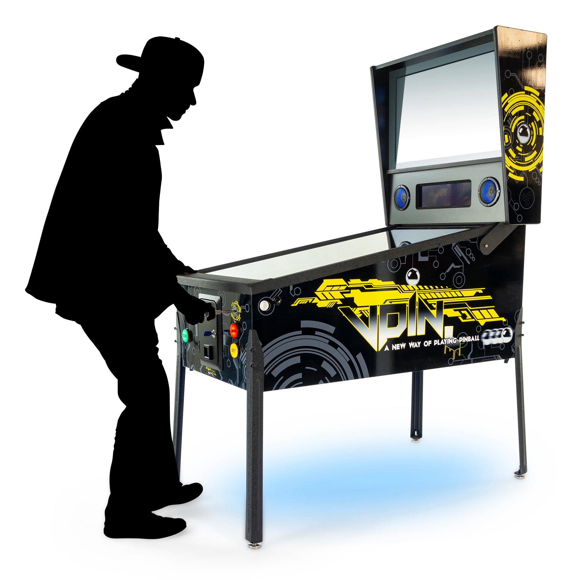 "Virtual Pinball TR2TM Machine | 327 Famous Pinball Games | 49"" 4K-LCD Screen 