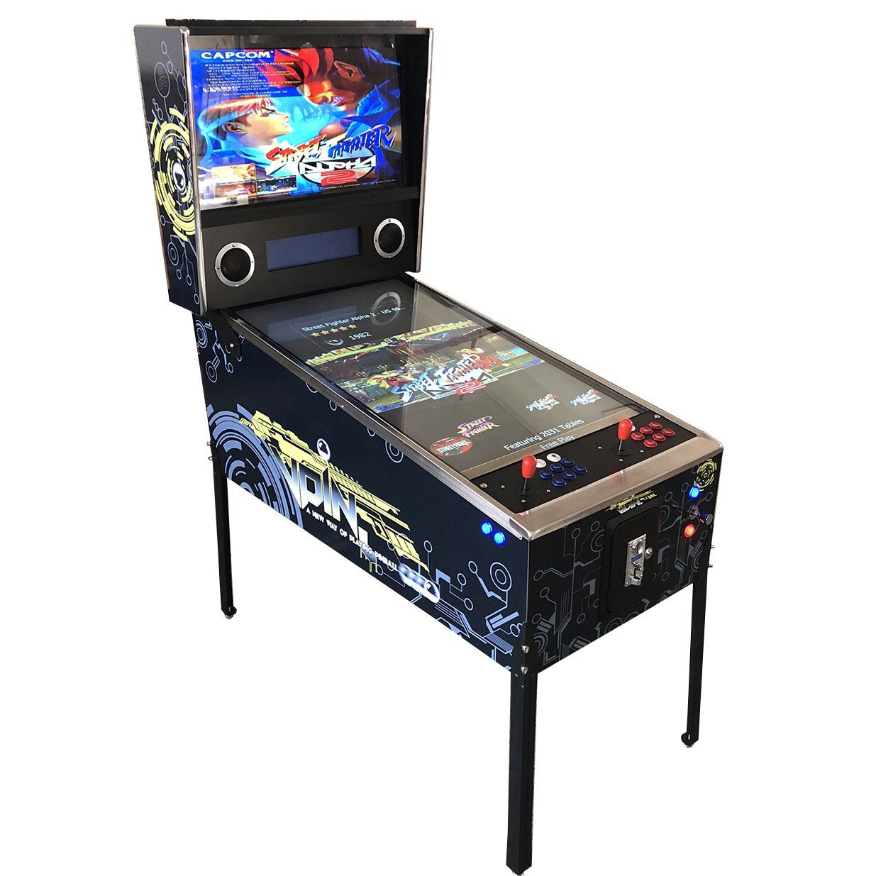 "2 Player Virtual Pinball Machine | (2 in 1) Combo 1031 Pinball Games and 998 Classic Arcade Games | 43"" and 32"" LCD Screens"