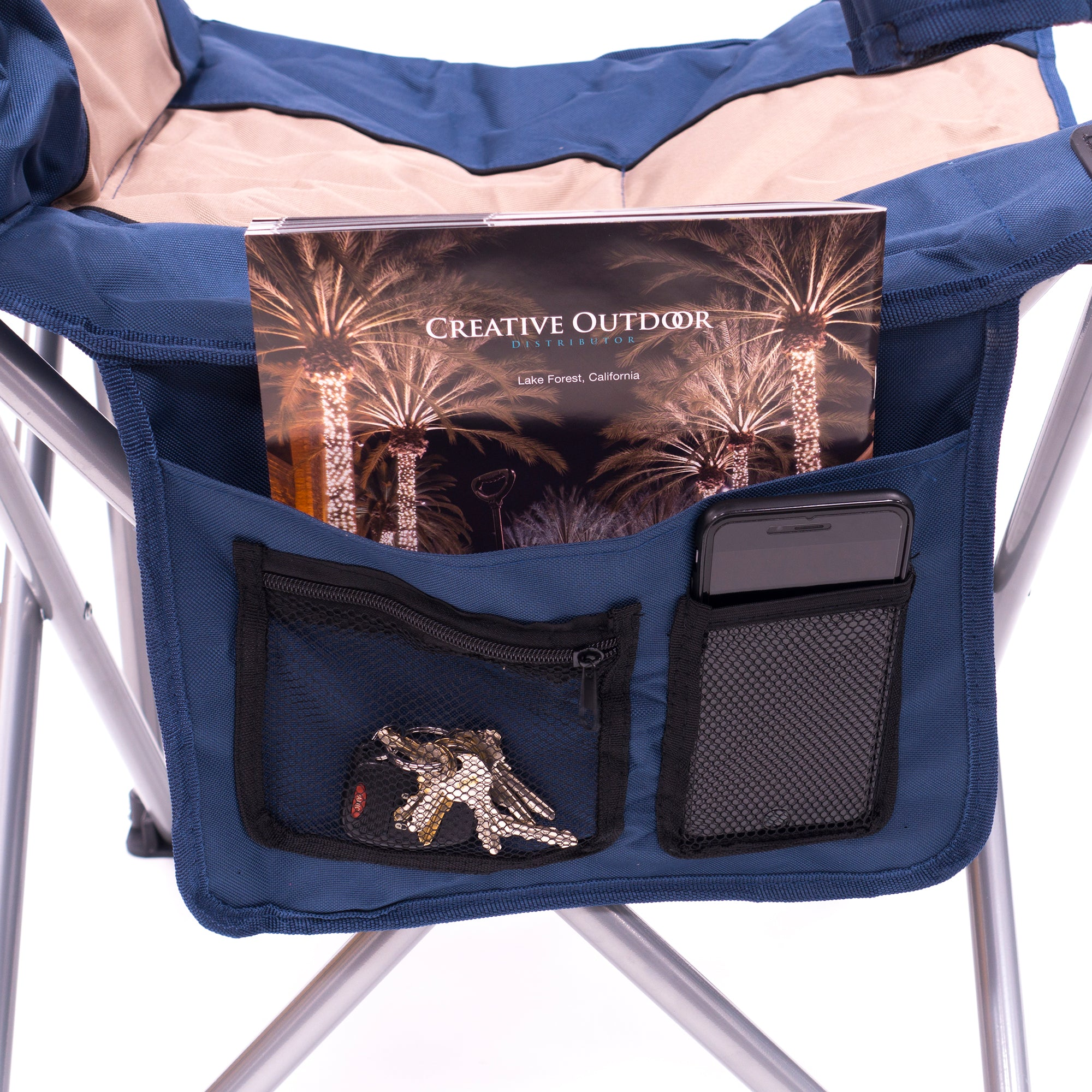 Big Boy Premium Padded Folding Camp Chair Pockets