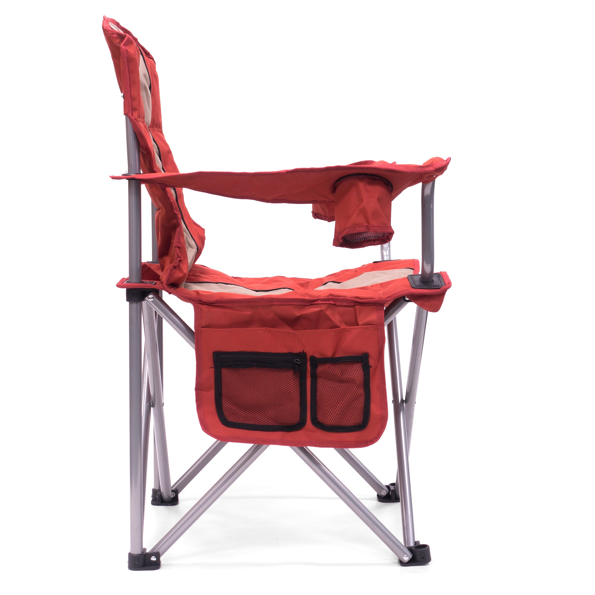 Big Boy Premium Padded Folding Camp Chair Side View