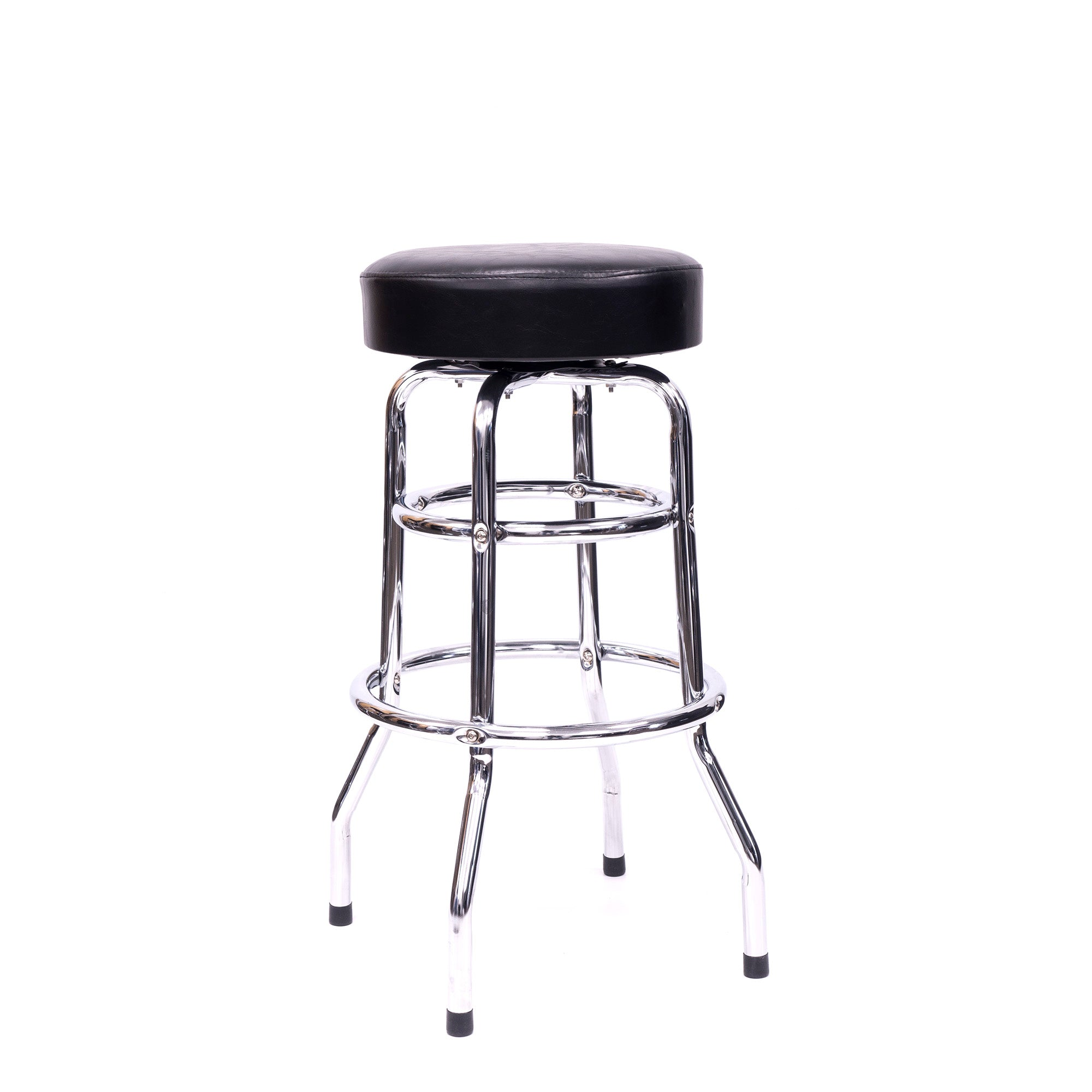 "30.5"" Full Swivel Bar Stool w/ Foot Rail & Padded Cushion"