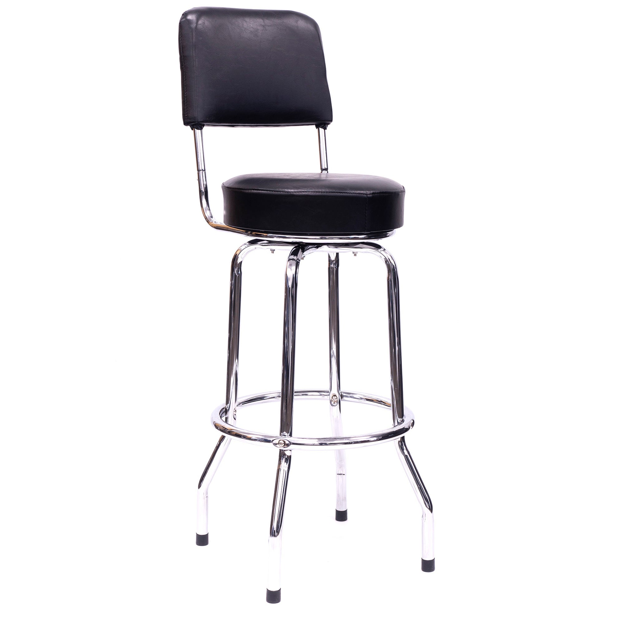 "30.5"" Full Swivel Bar Stool w/Backrest"