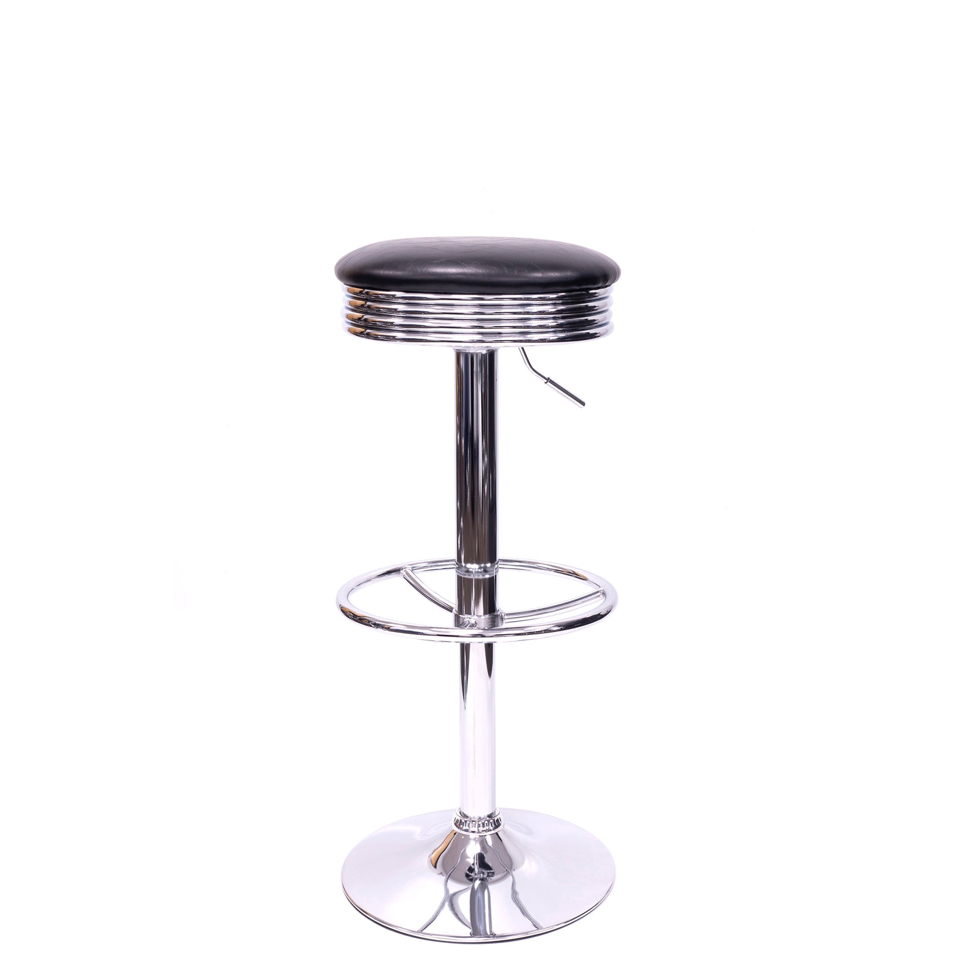 "Adjustable Swivel Bar Stools | 26""-34"" Height 