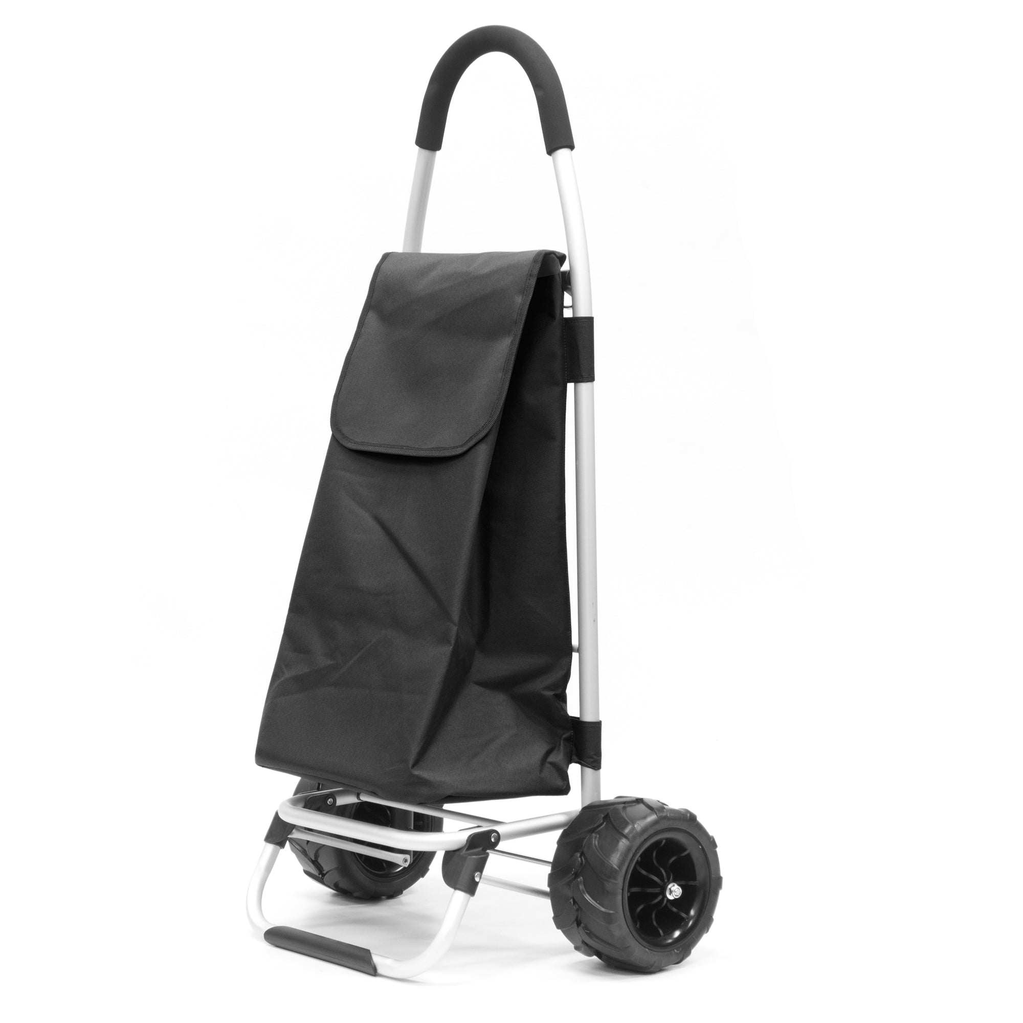 All-Terrain Folding Aluminum Trolley with Removable Cinch-Top Bag 890100