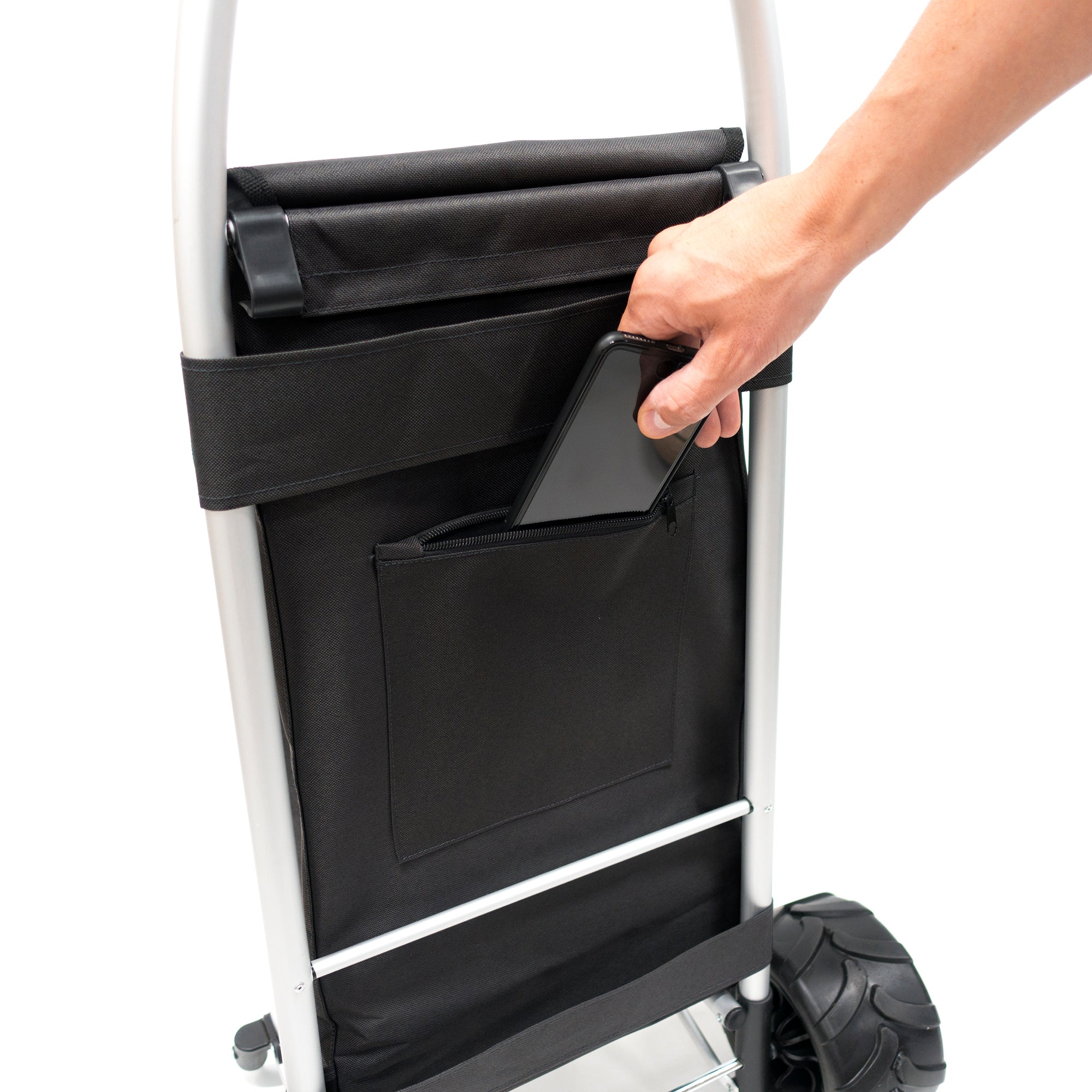 All-Terrain Folding Aluminum Trolley Zip Pocket 890100