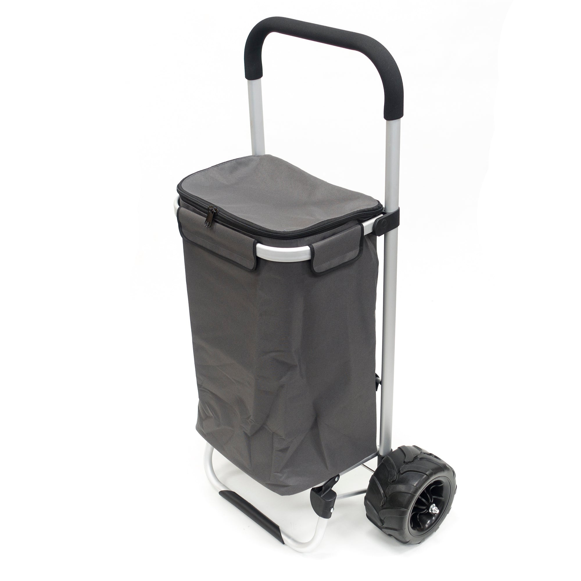 All-Terrain Folding Aluminum Trolley with Removable Zip-Top Bag