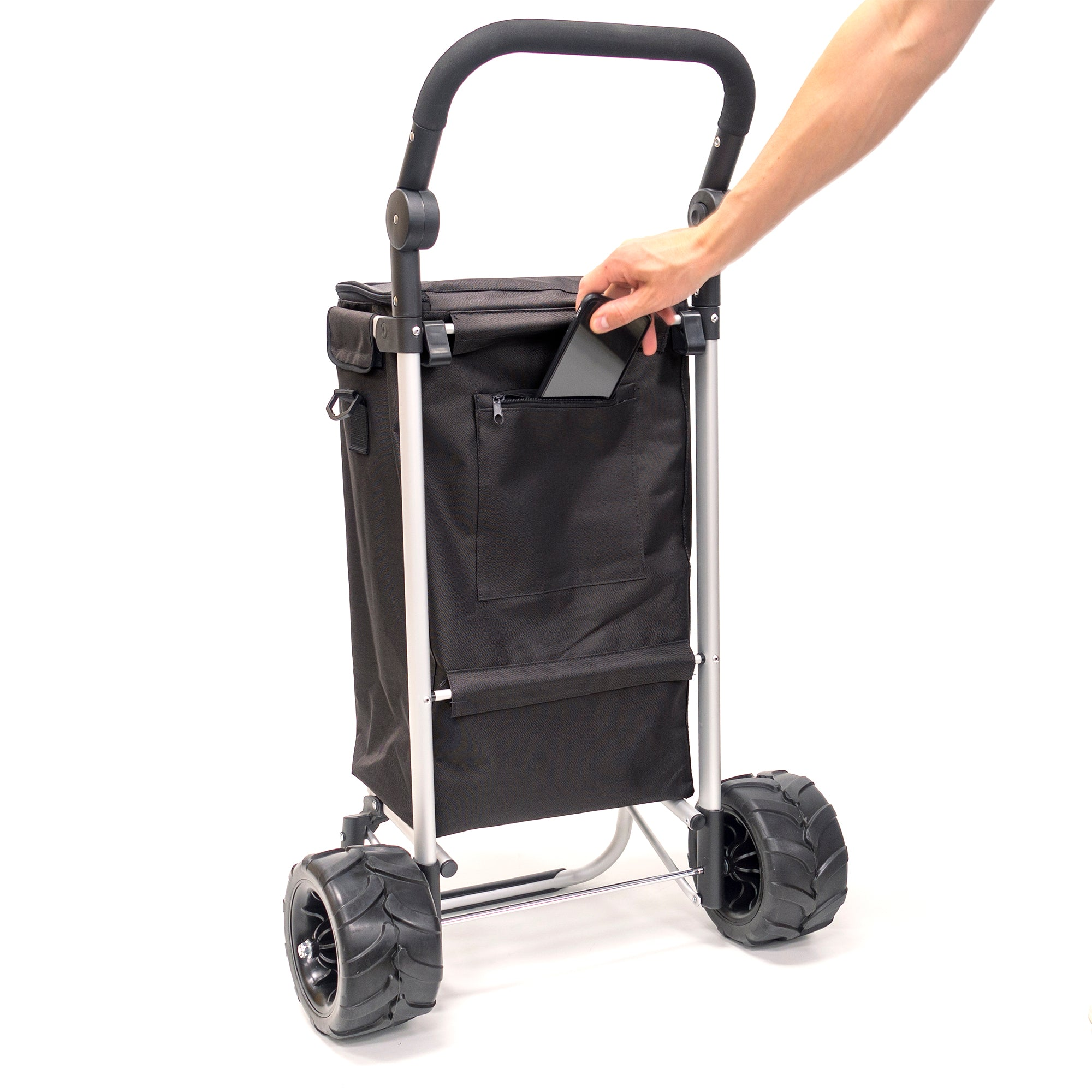 All-Terrain Folding Aluminum Trolley with Zip Pocket 890300