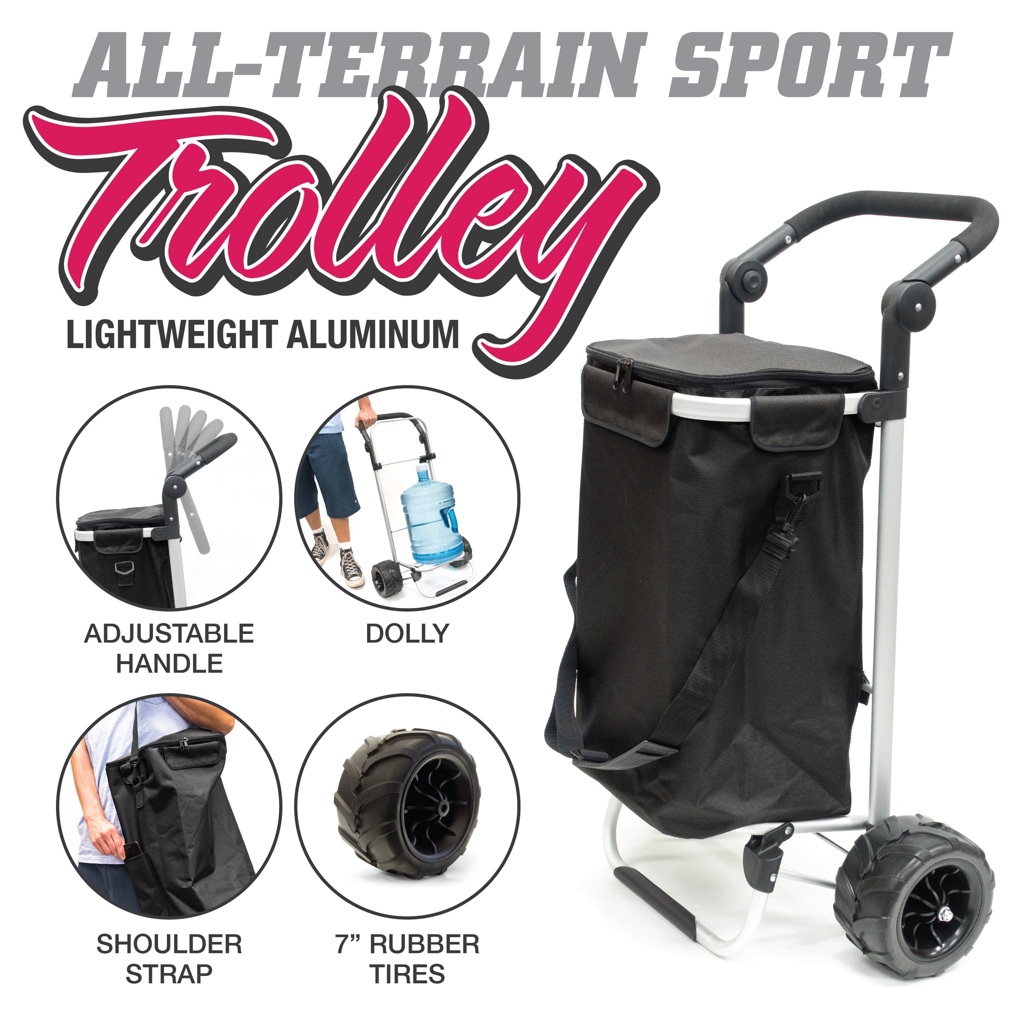 All-Terrain Folding Aluminum Trolley Features 890300