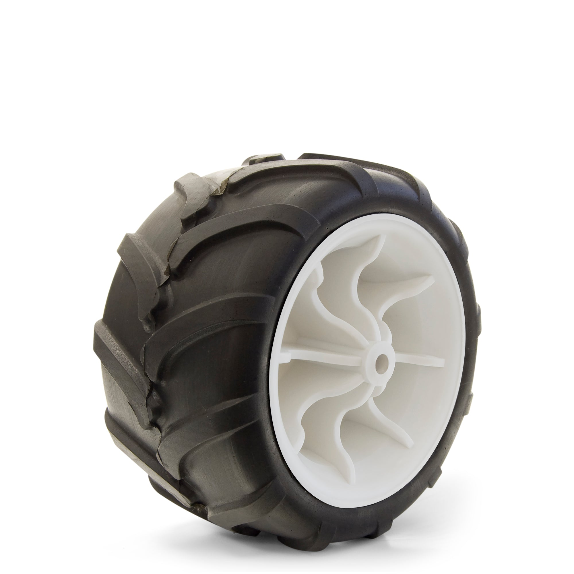 All-Terrain Folding Wagon Wheel Black/White