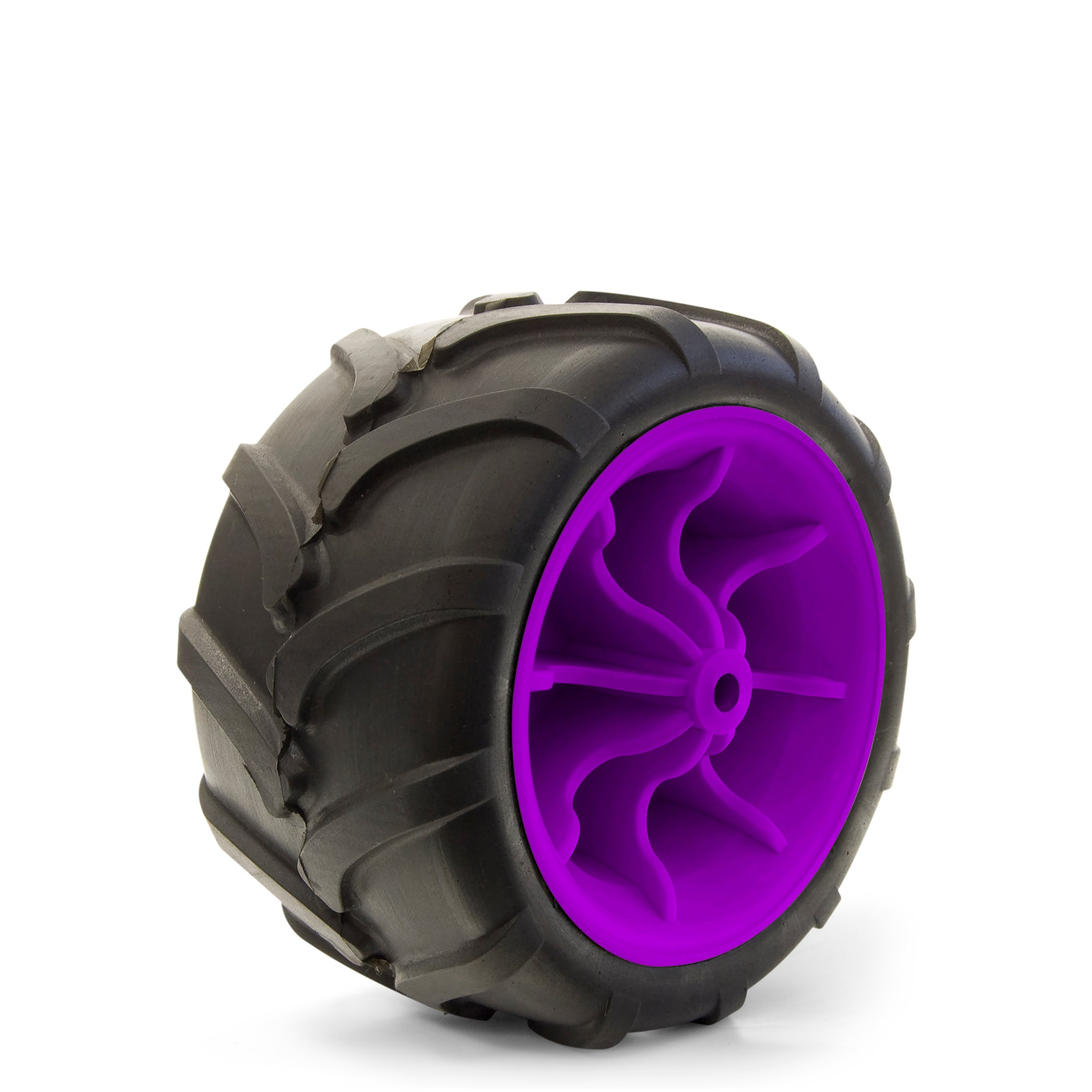 All-Terrain Folding Wagon Wheel Black/Purple