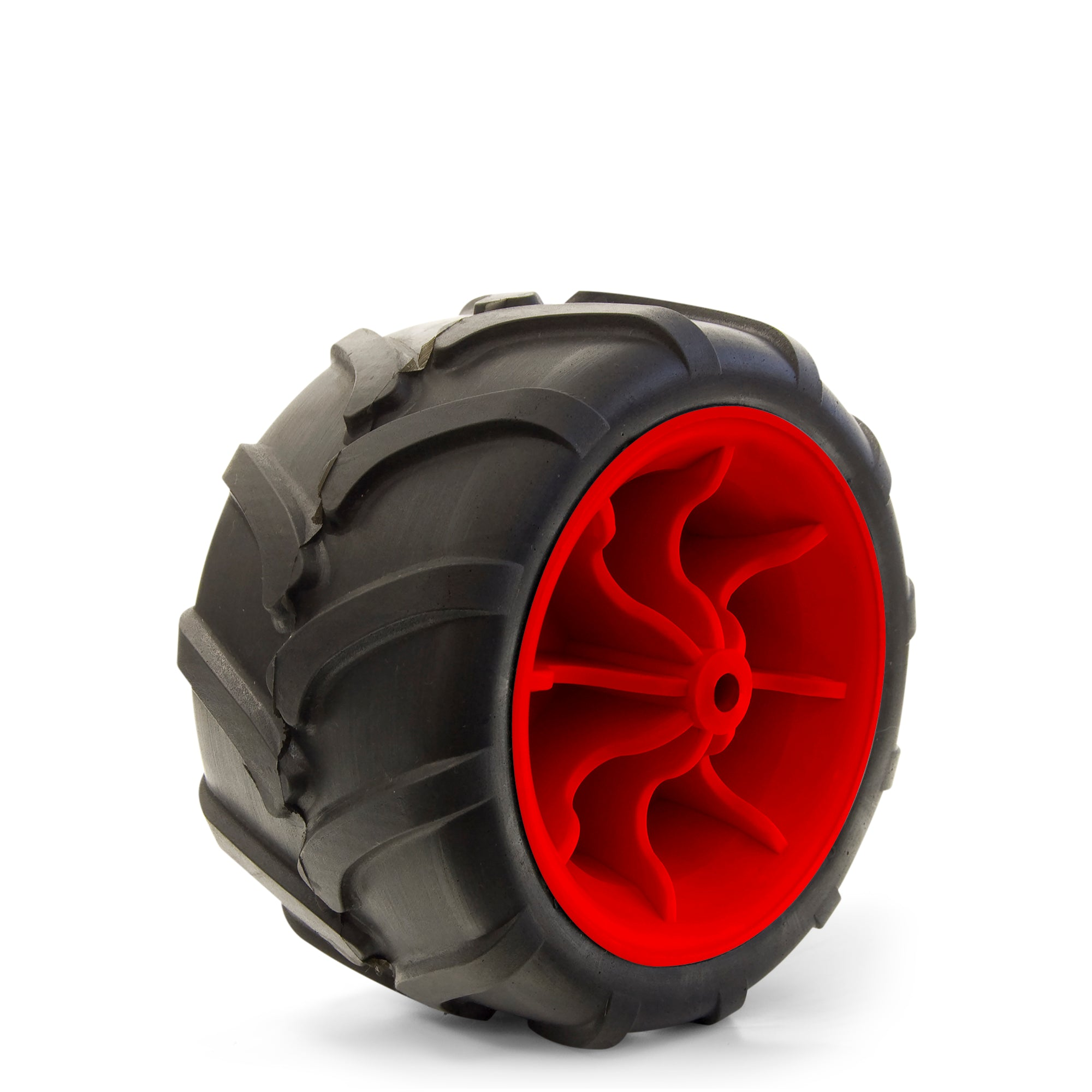 All-Terrain Folding Wagon Wheel Black/Red