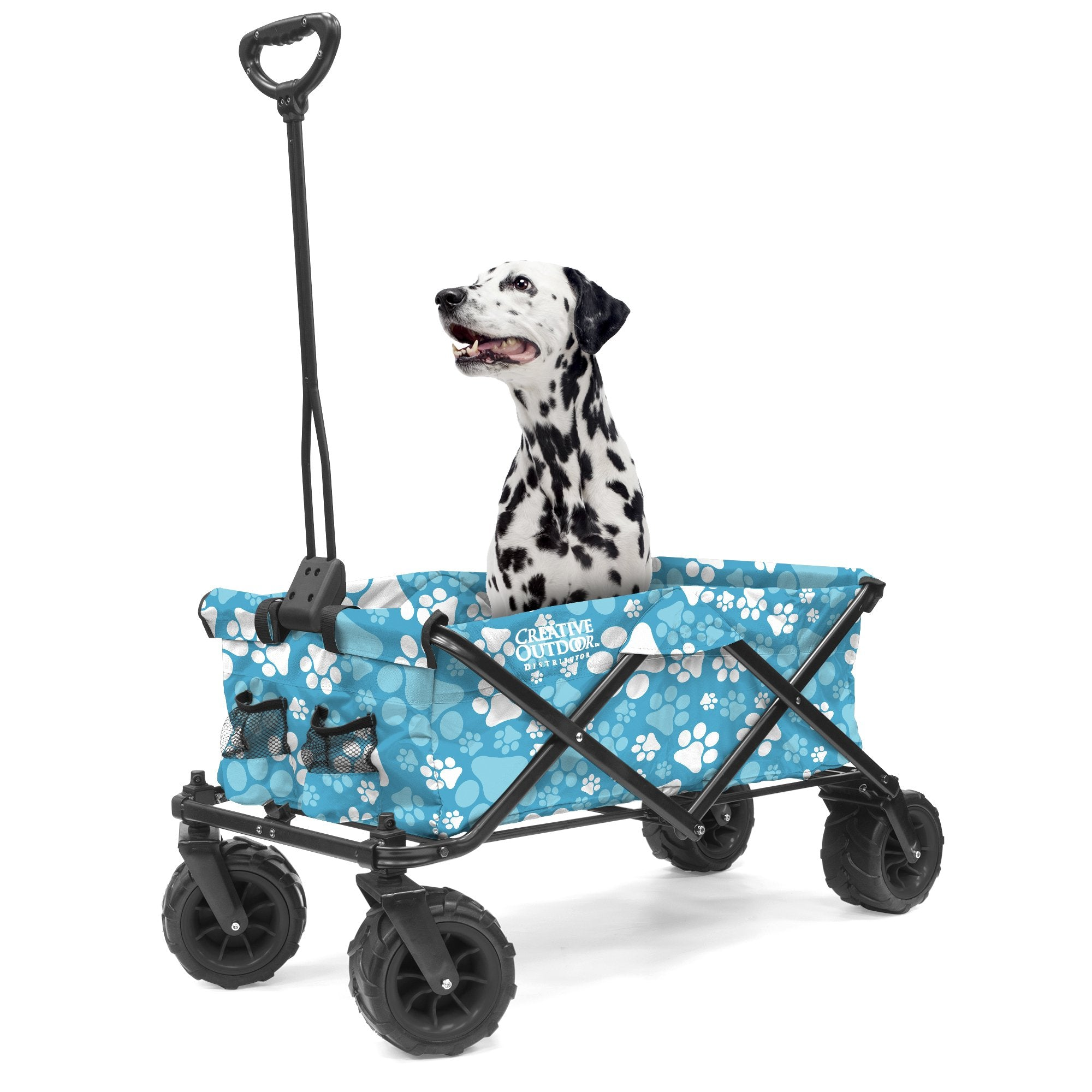 900255 Paw Print All-Terrain Folding Wagon Dog