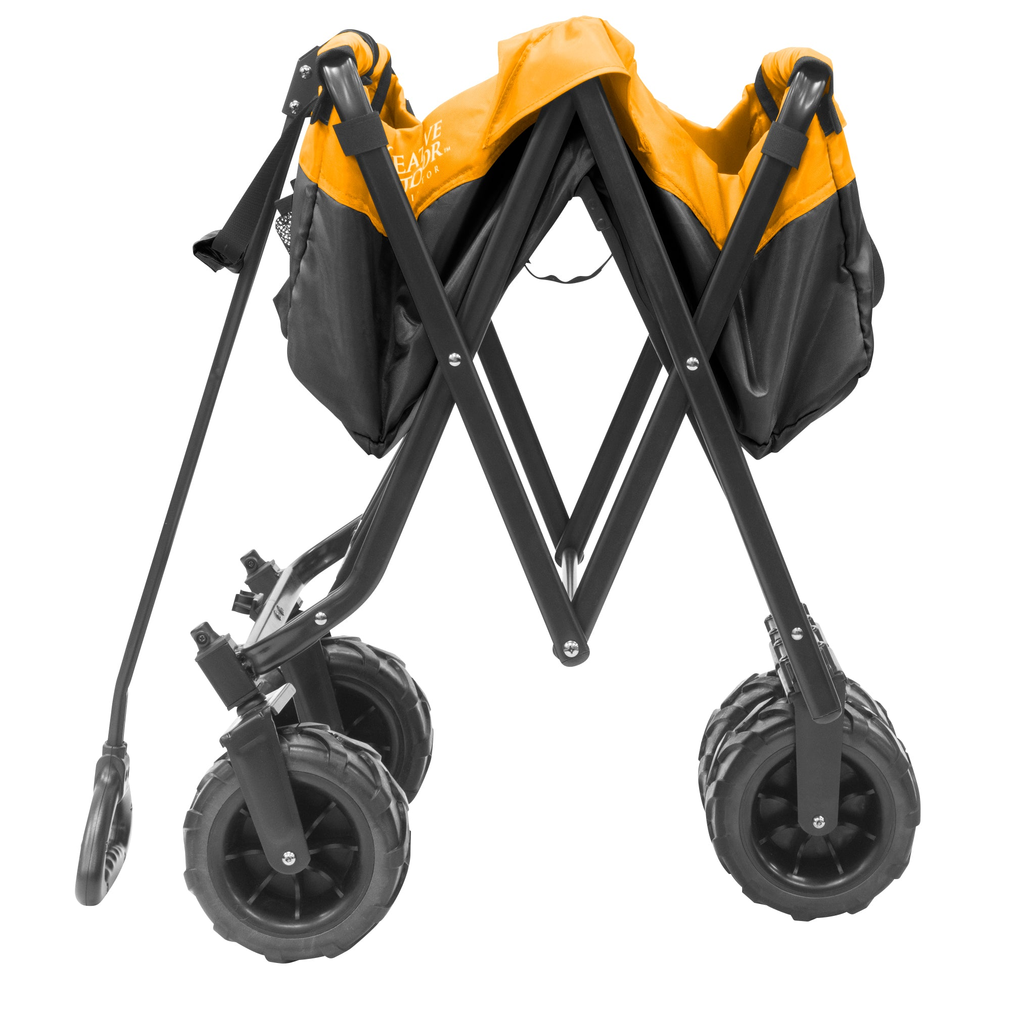 Creative Outdoor 900460 All-Terrain Folding Wagon Black Yellow Folding