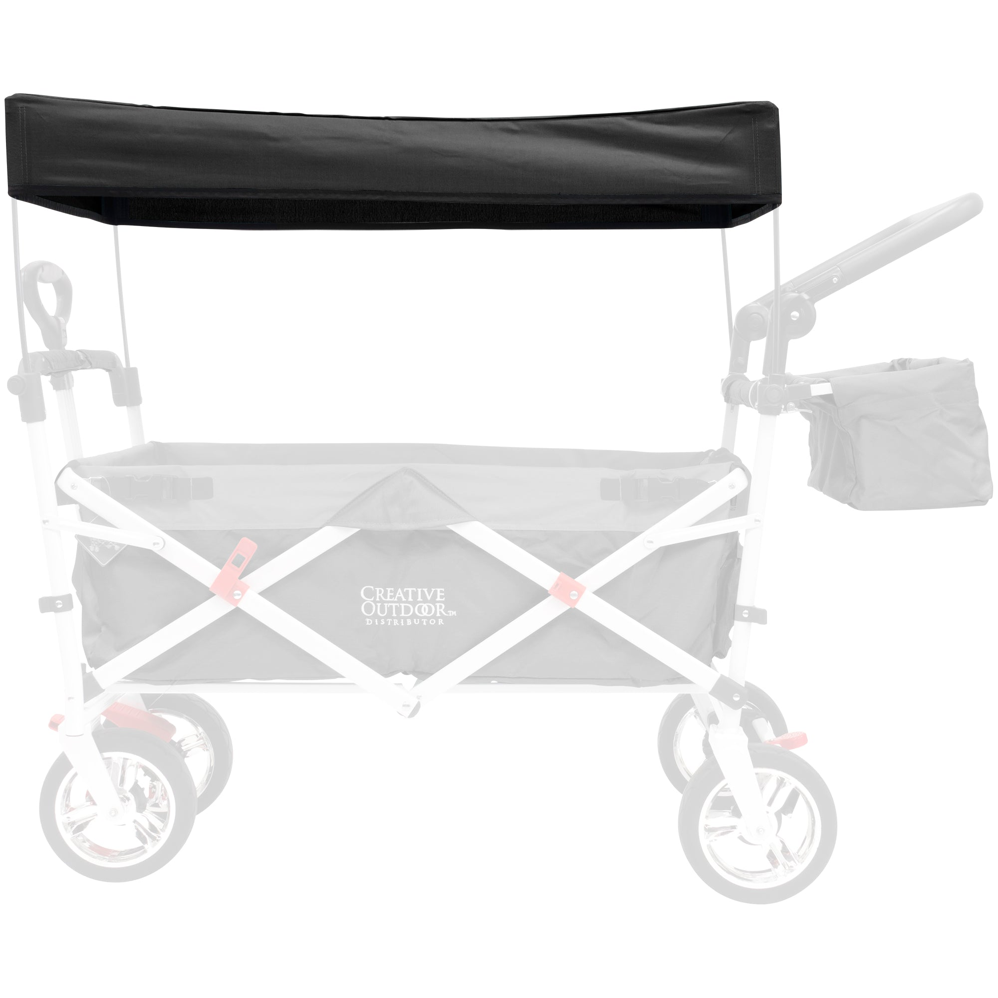 Silver Series Push Pull Folding Wagon Teal Replacement Canopy - Black