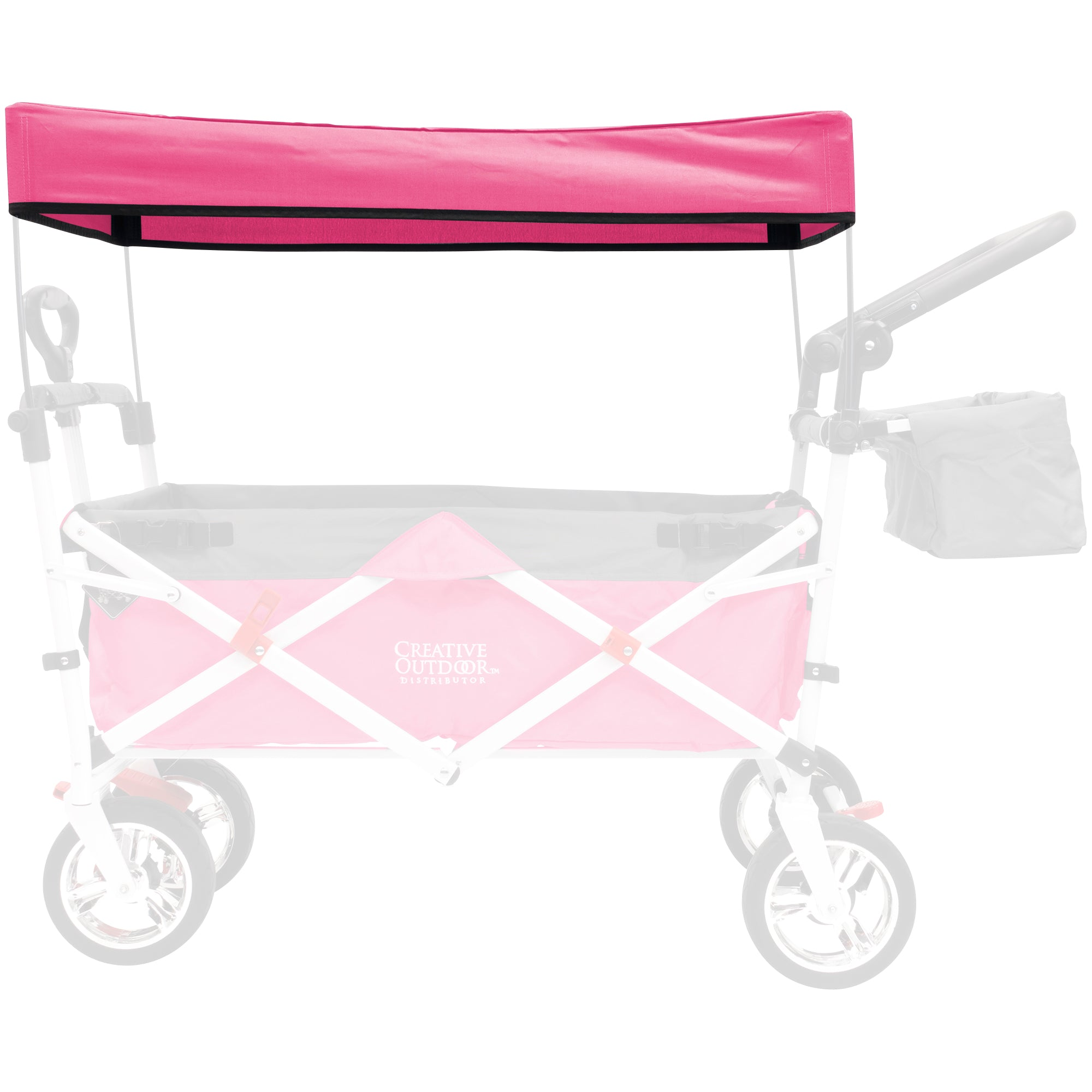 Silver Series Push Pull Folding Wagon Teal Replacement Canopy - Pink