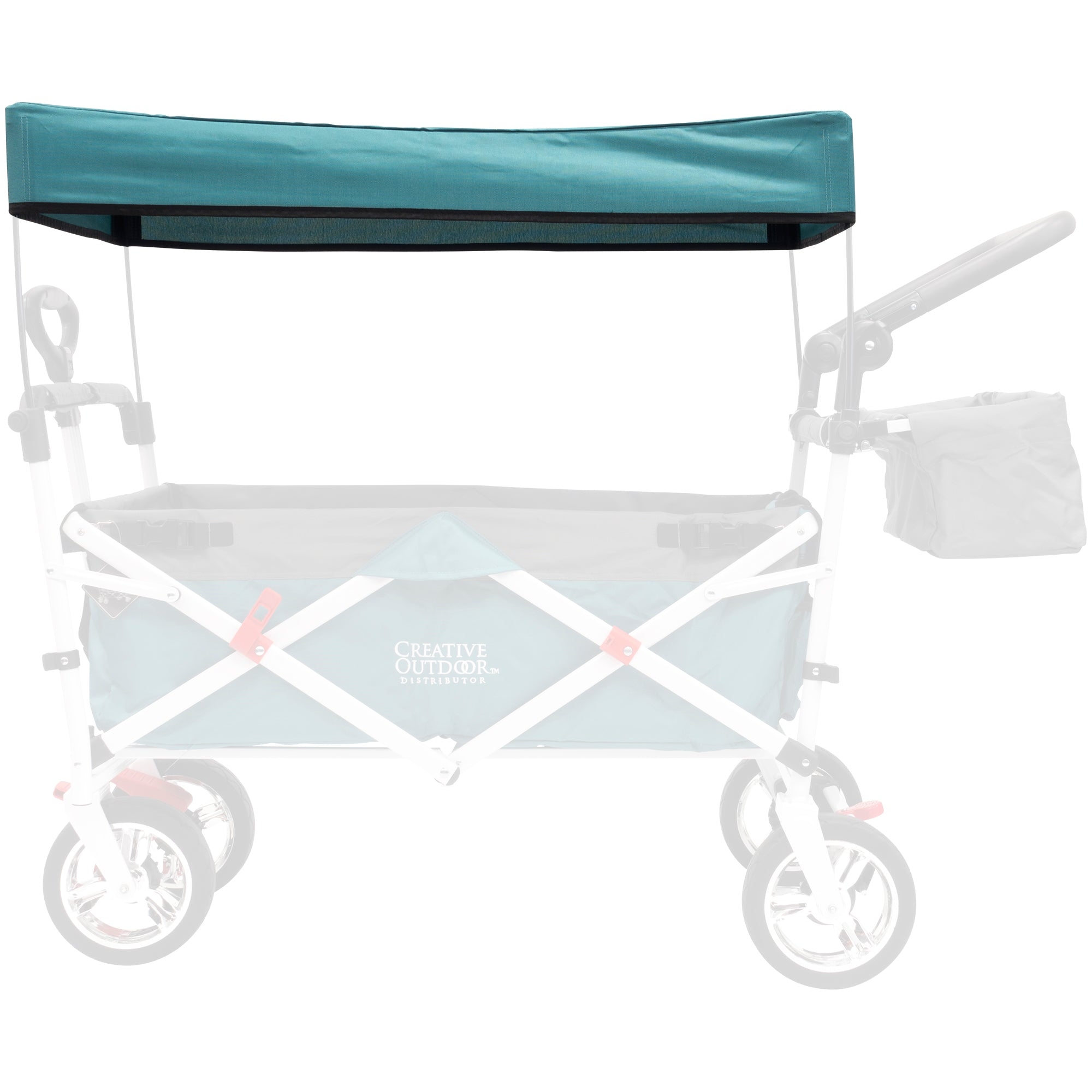 Silver Series Push Pull Folding Wagon Teal Replacement Canopy - Teal