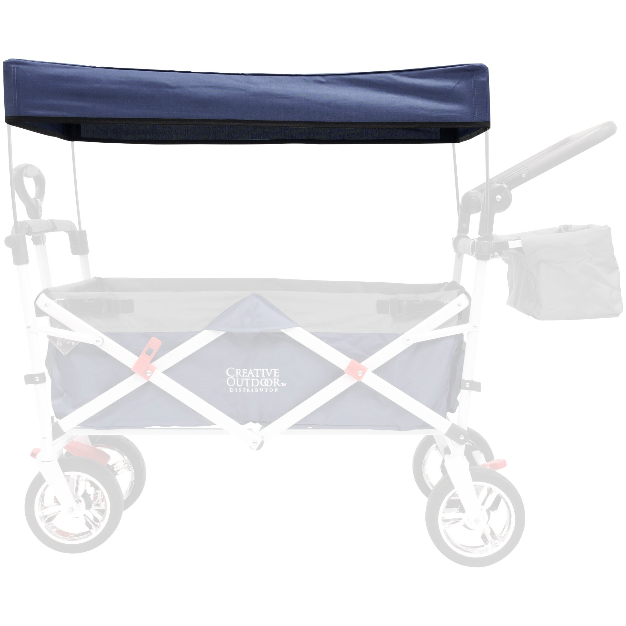 Silver Series Push Pull Folding Wagon Teal Replacement Canopy - Navy