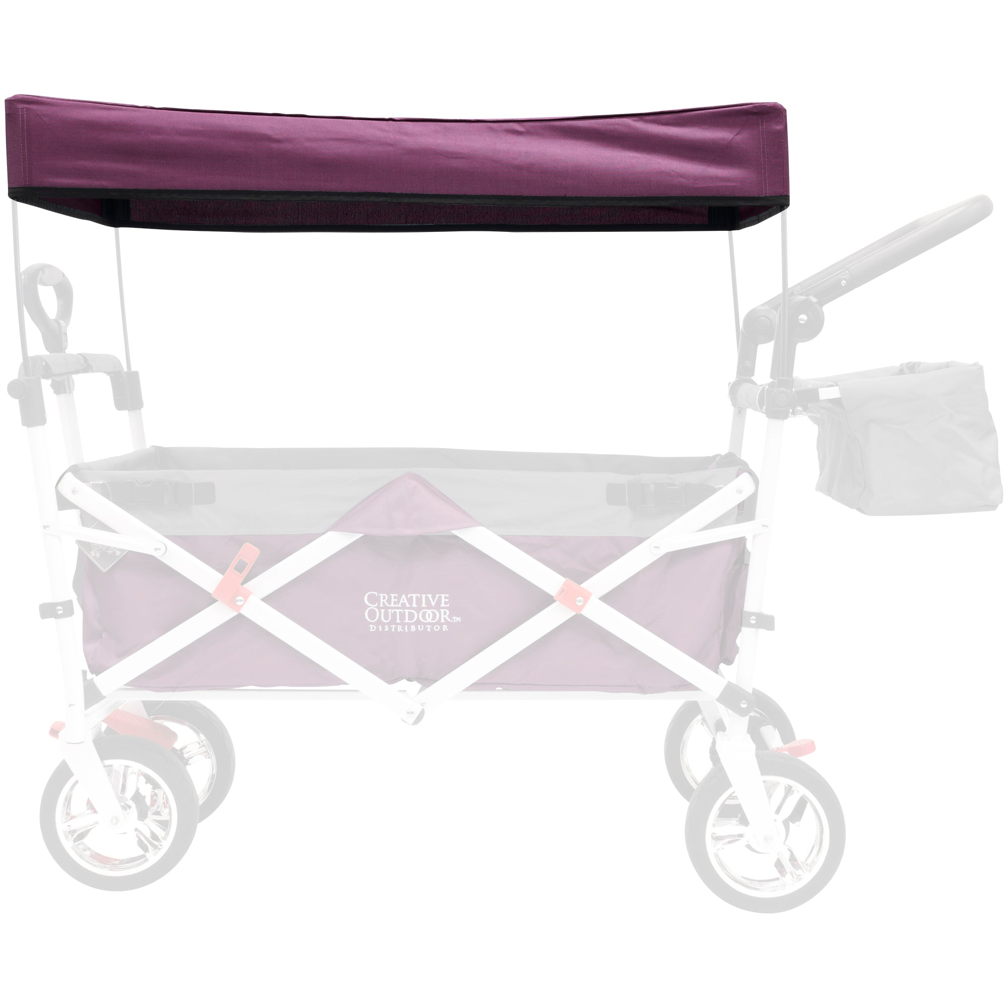 Silver Series Push Pull Folding Wagon Teal Replacement Canopy - Purple