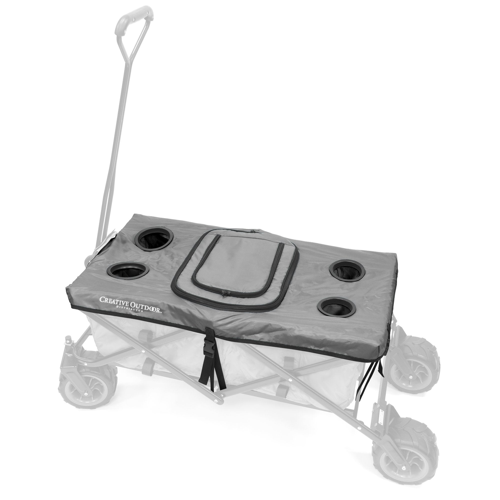 All-Terrain Folding Wagon Tabletop Cooler Accessory | Gray