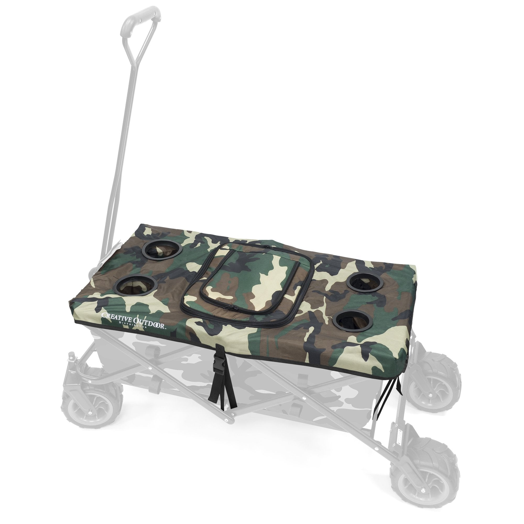 All-Terrain Folding Wagon Tabletop Cooler Accessory | Camo