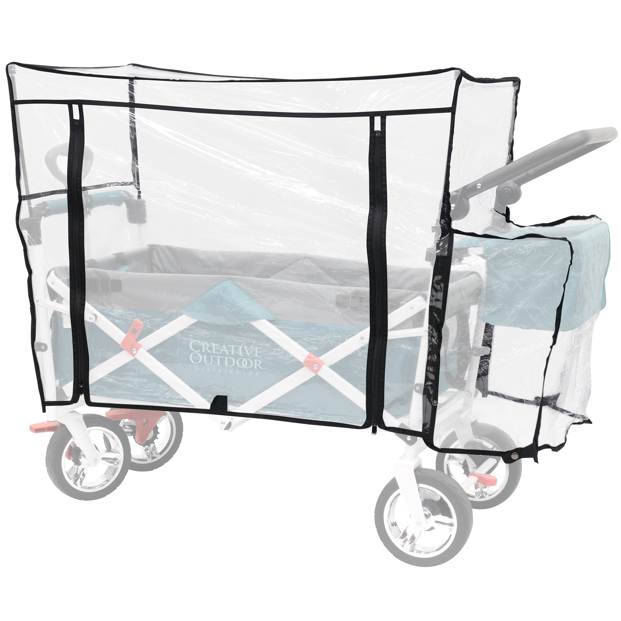 Push Pull Folding Wagon Rain Cover Accessory