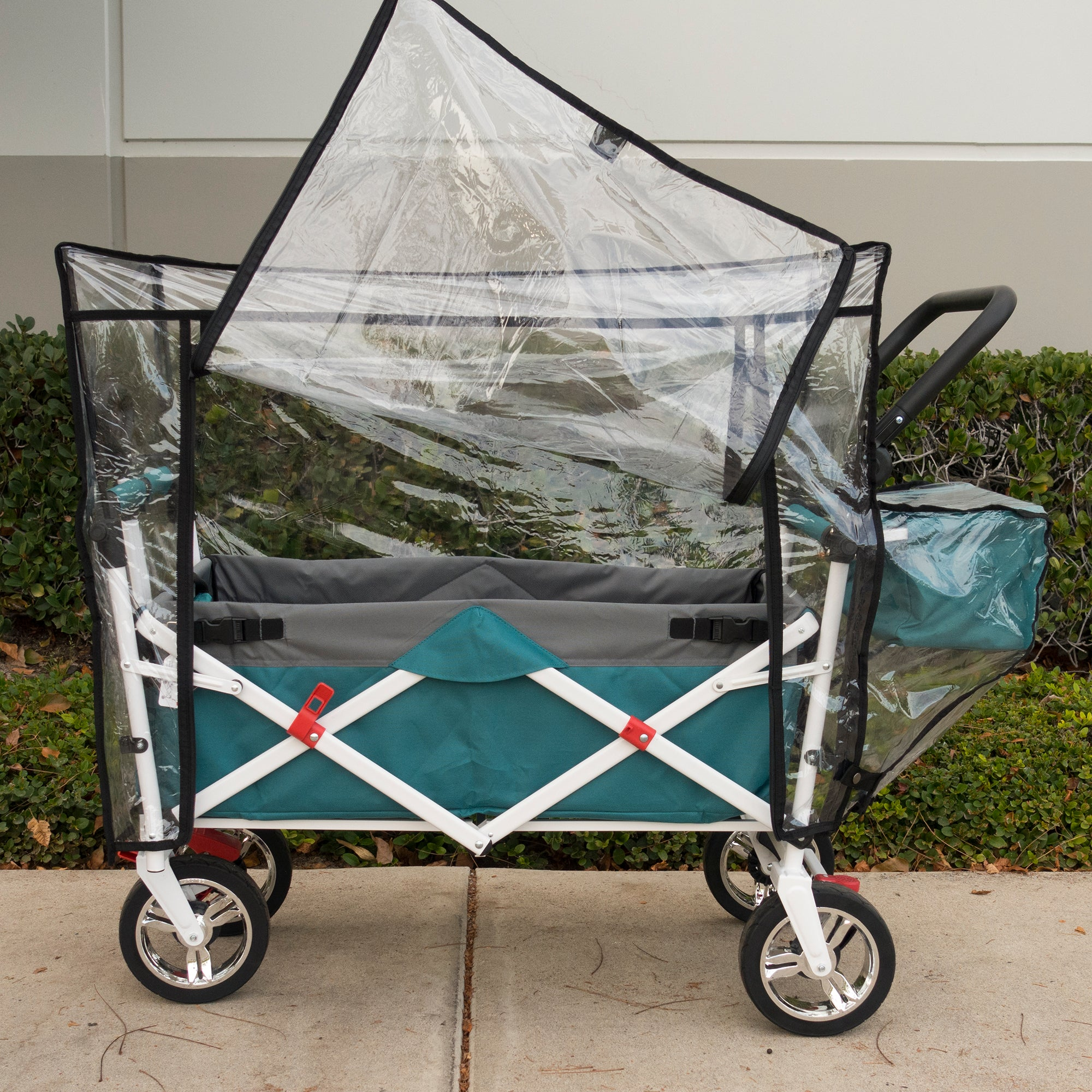 Push Pull Folding Wagon Rain Cover Accessory Door