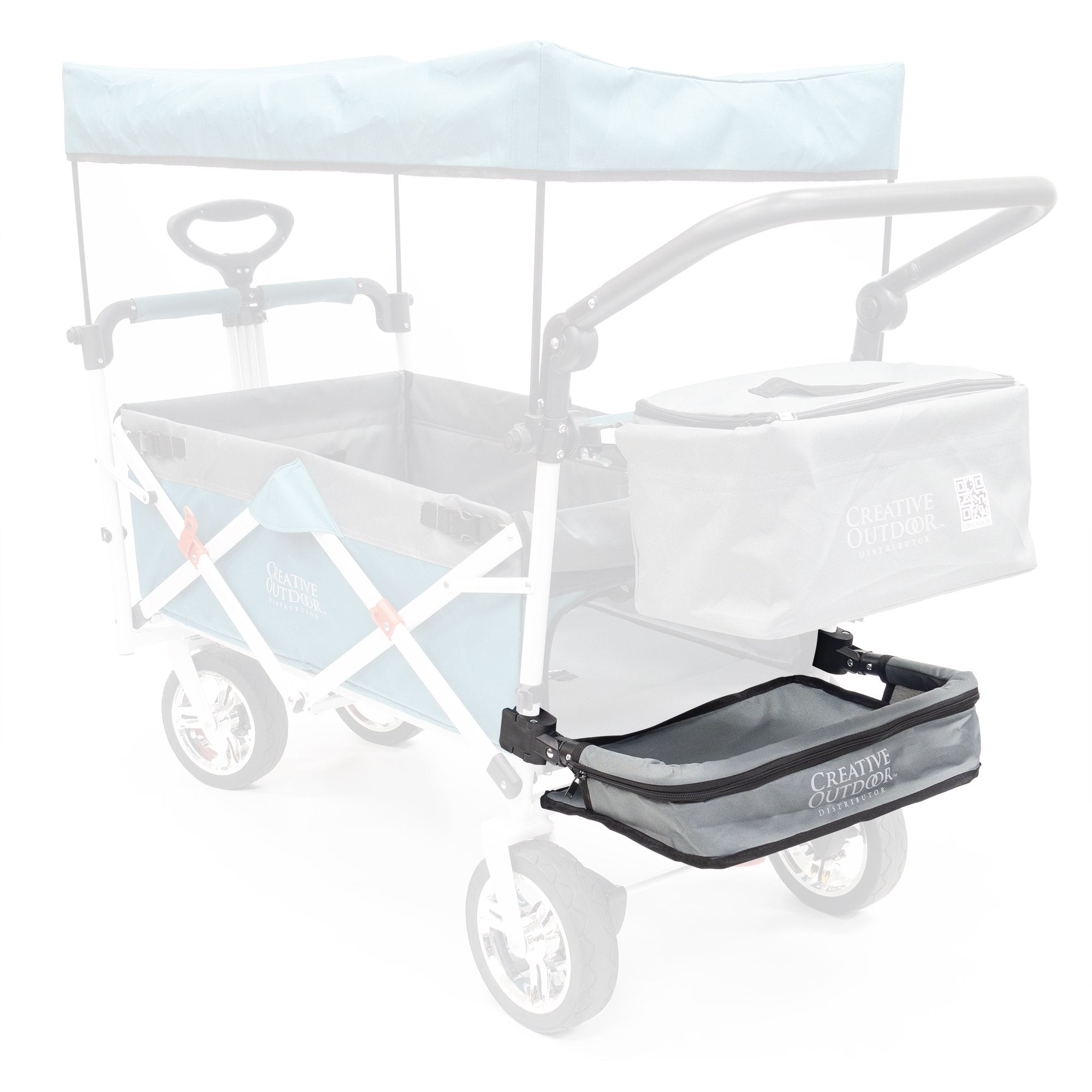 Push Pull Folding Wagon Extension Tray Accessory