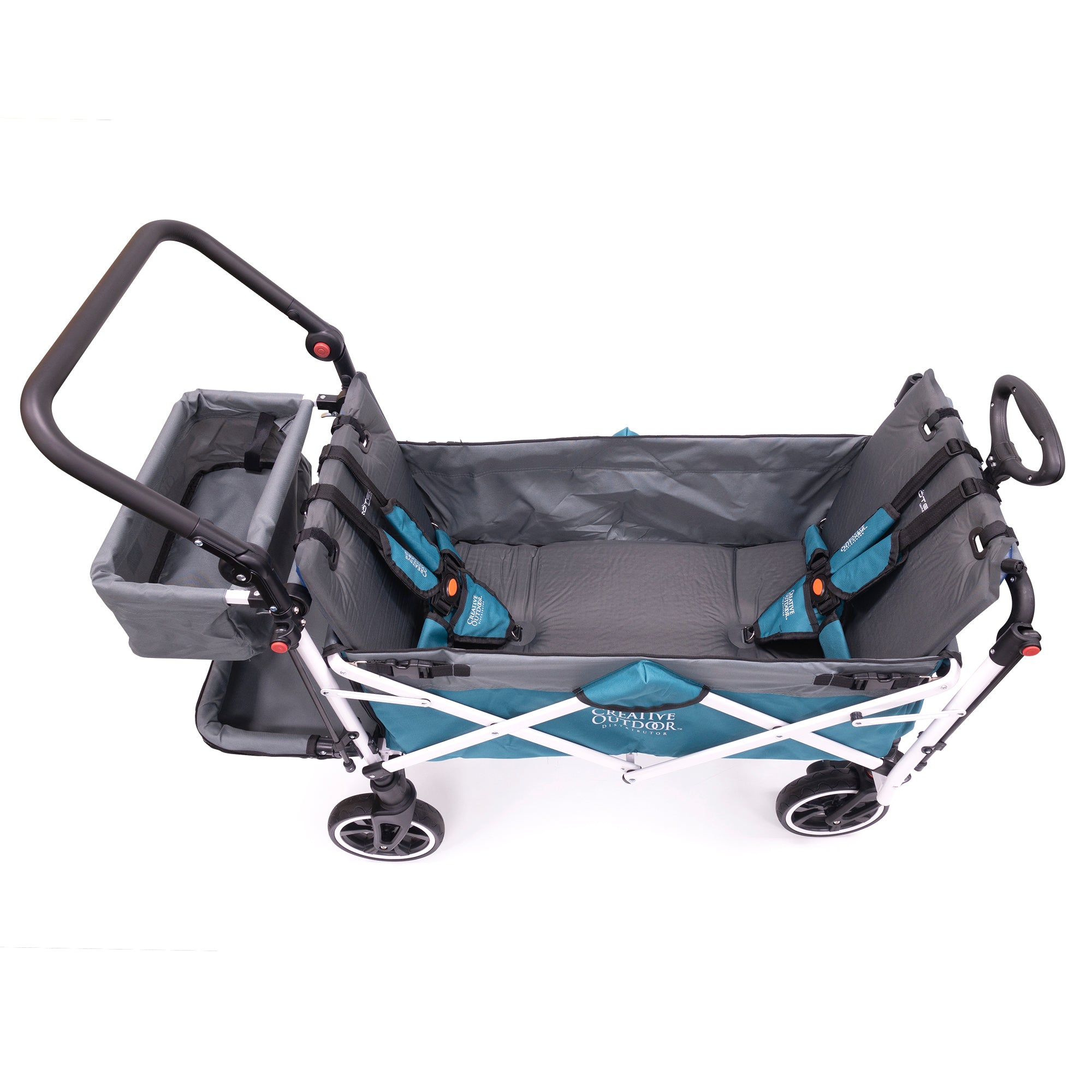 Push Pull Folding Wagon Self-Inflating Seat Cushion