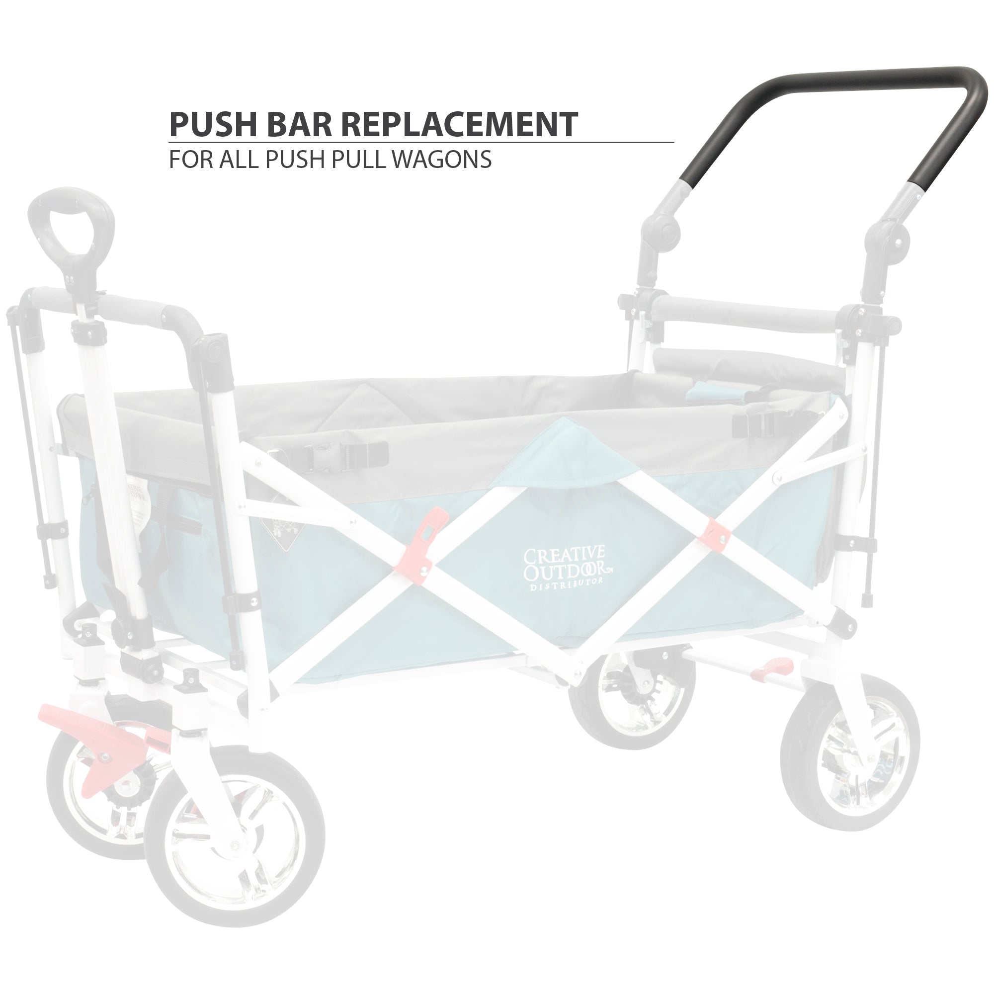Push Pull Folding Wagon Replacement Push Handle