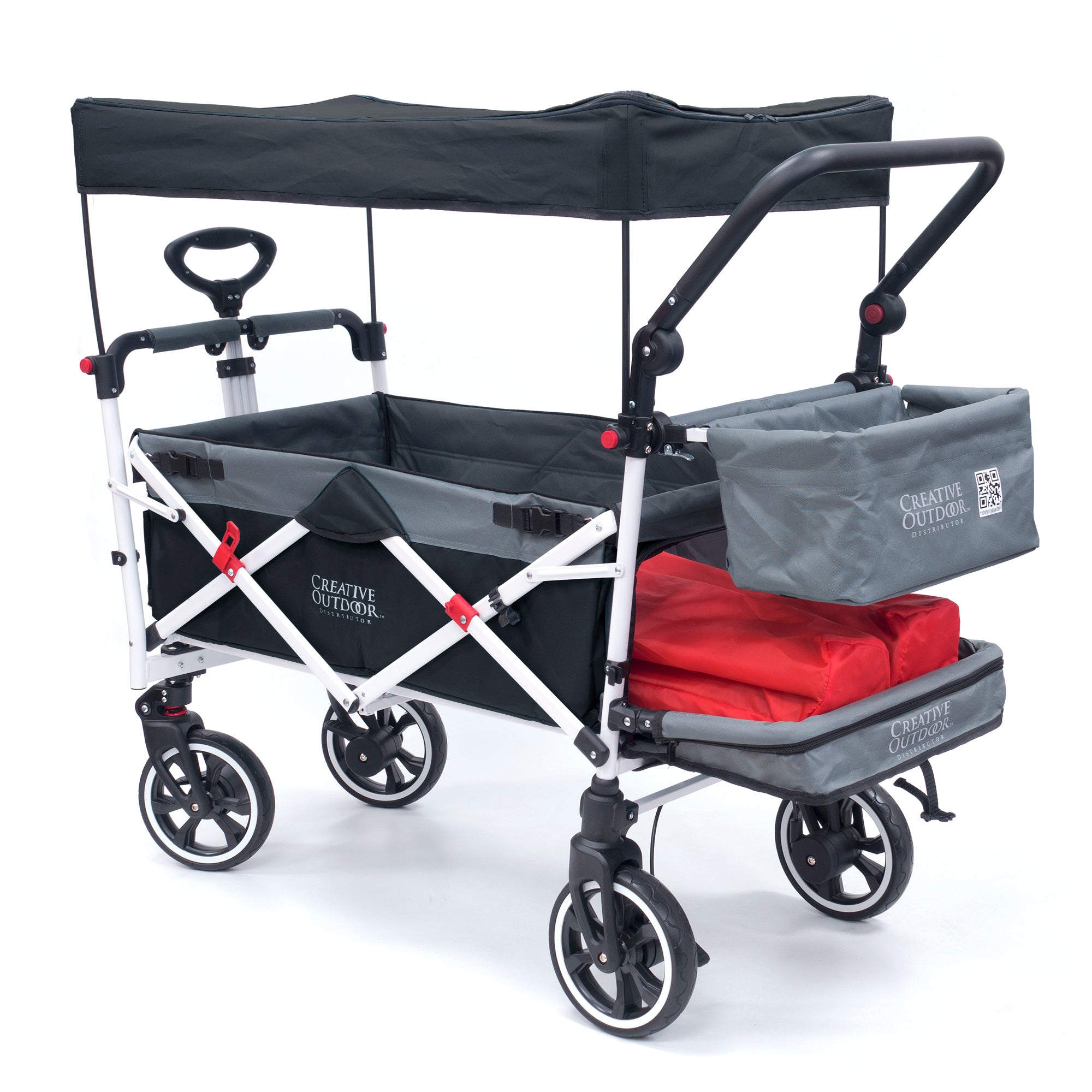Push Pull Folding Stroller Wagon Titanium Series
