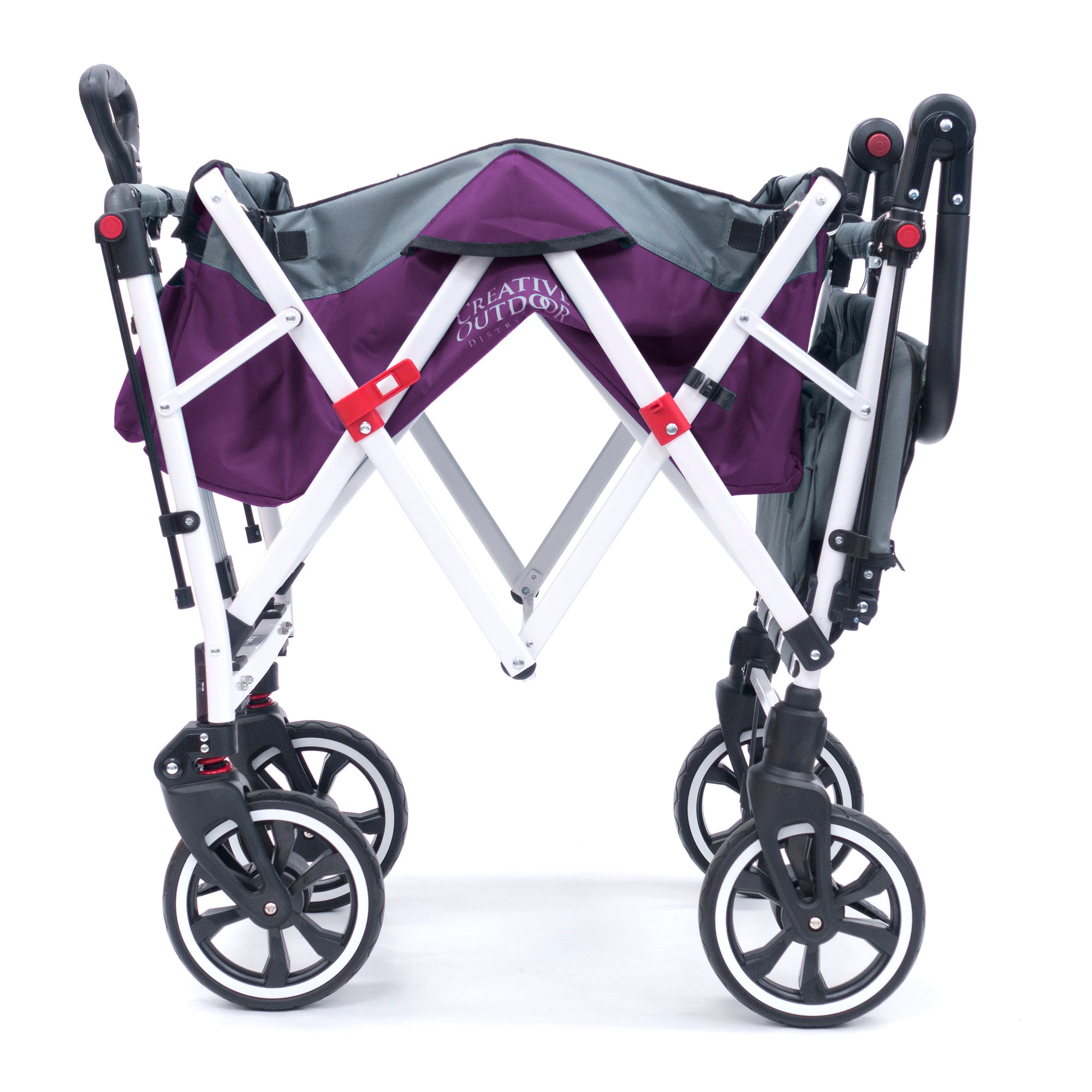 Push Pull TITANIUM SERIES Folding Wagon Stroller with Canopy | Purple