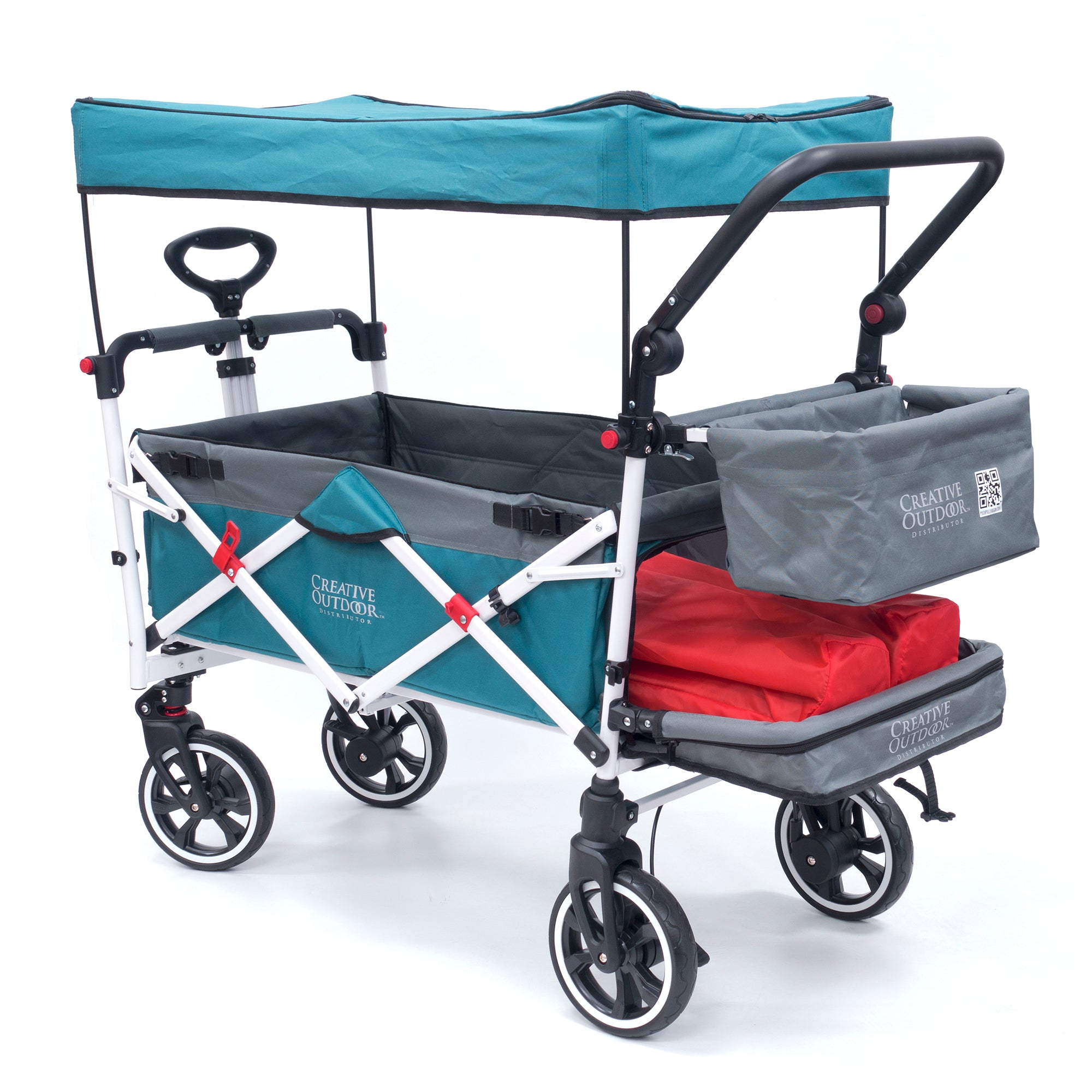 Push Pull Folding Stroller Wagon Titanium Series Teal