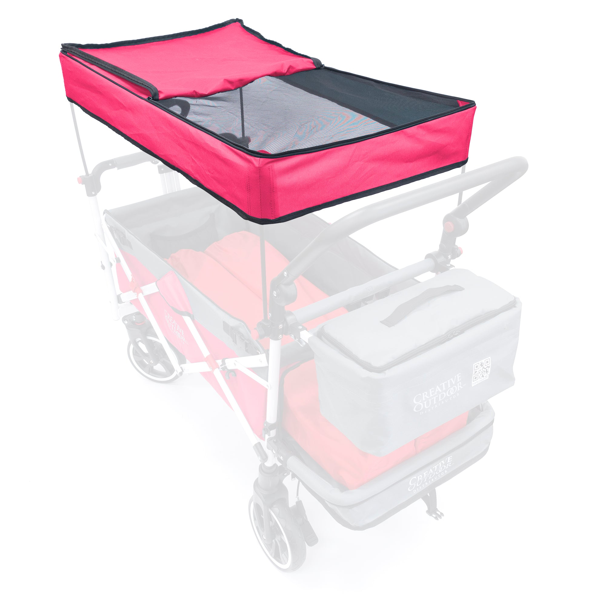 Push Pull Folding Wagon Titanium Series Replacement Canopy - Pink