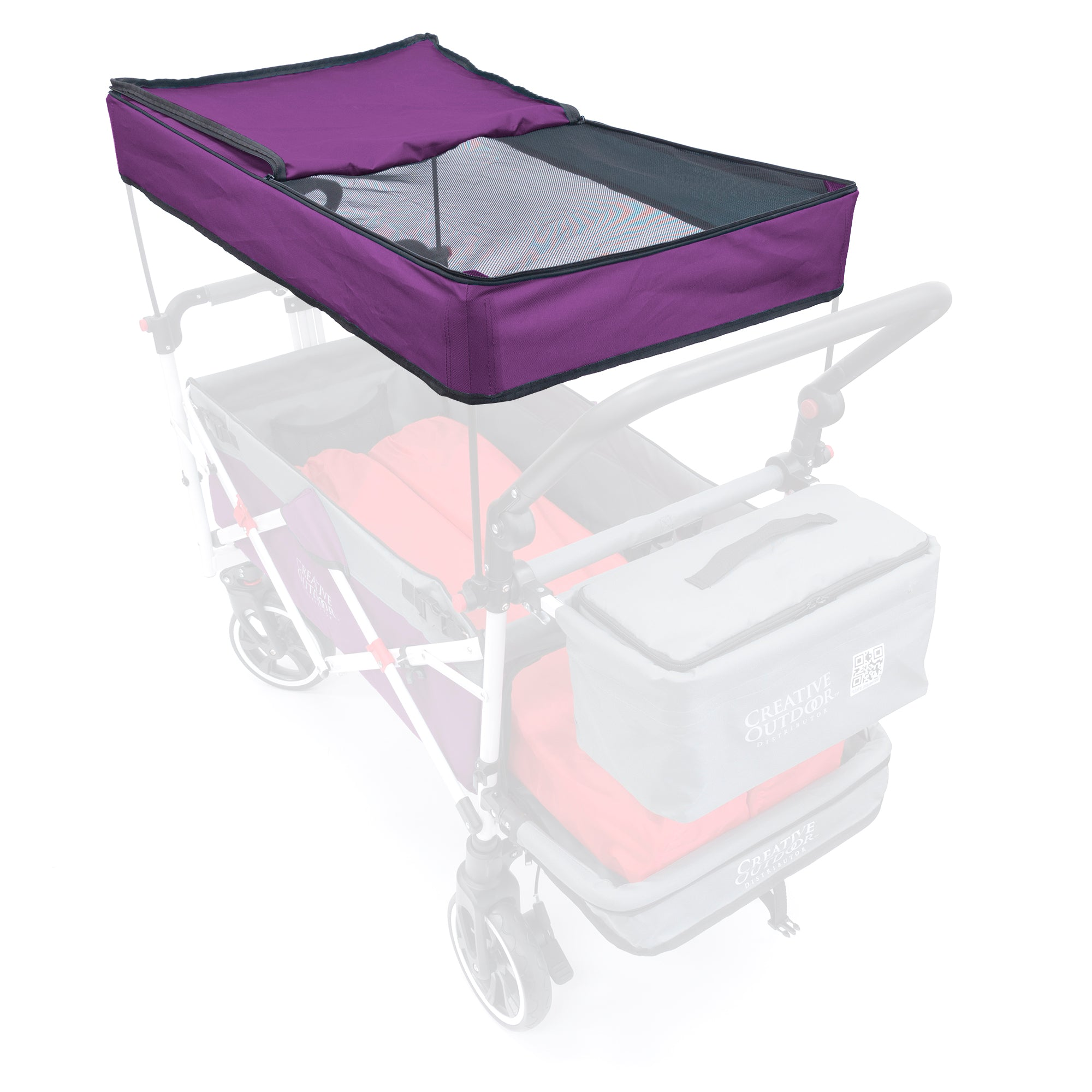 Push Pull Folding Wagon Titanium Series Replacement Canopy - Purple
