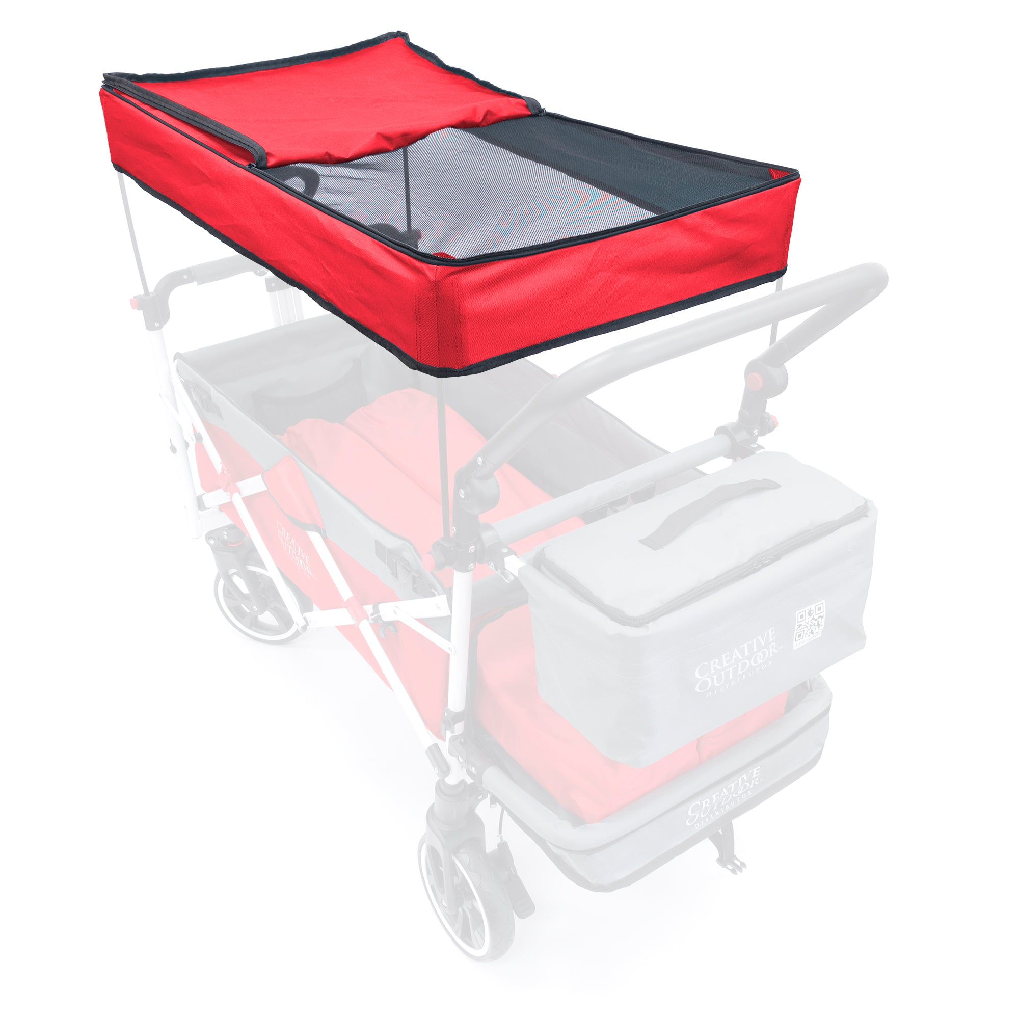Push Pull Folding Wagon Titanium Series Replacement Canopy - Red